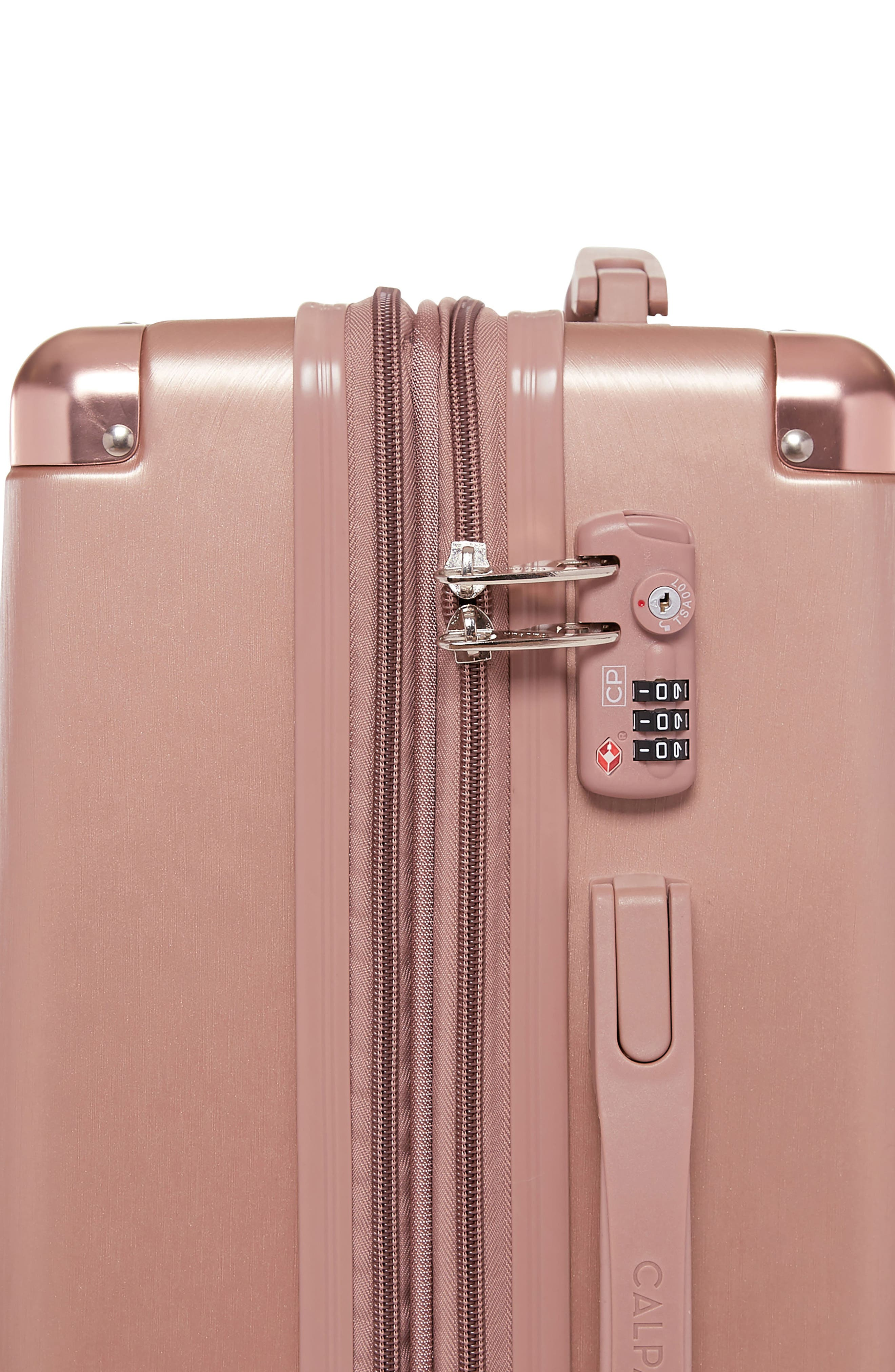 Ambeur 20-Inch Rolling Spinner Carry-On,                             Alternate thumbnail 4, color,                             Rose Gold