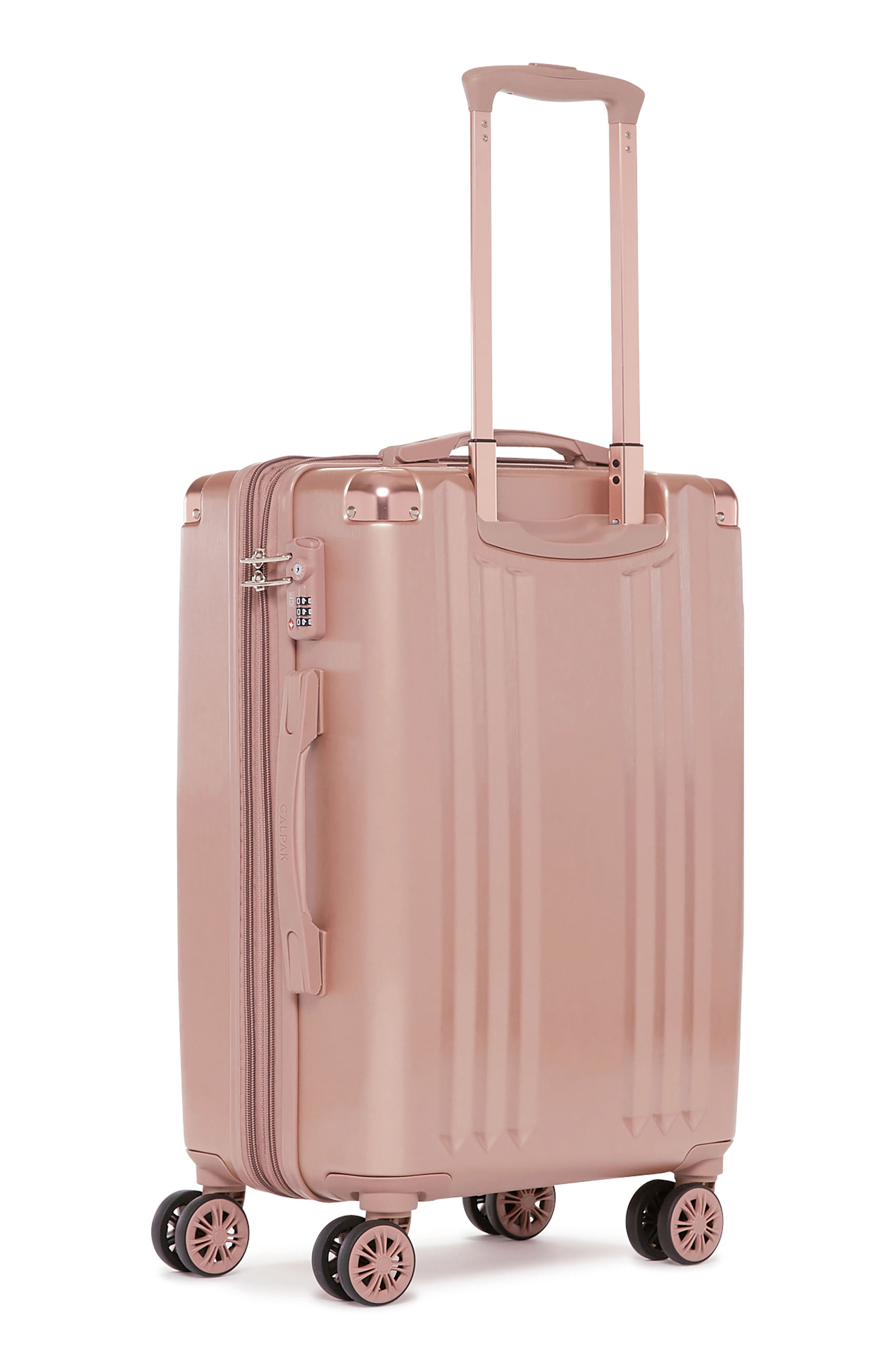 Ambeur 20-Inch Rolling Spinner Carry-On,                             Alternate thumbnail 3, color,                             Rose Gold