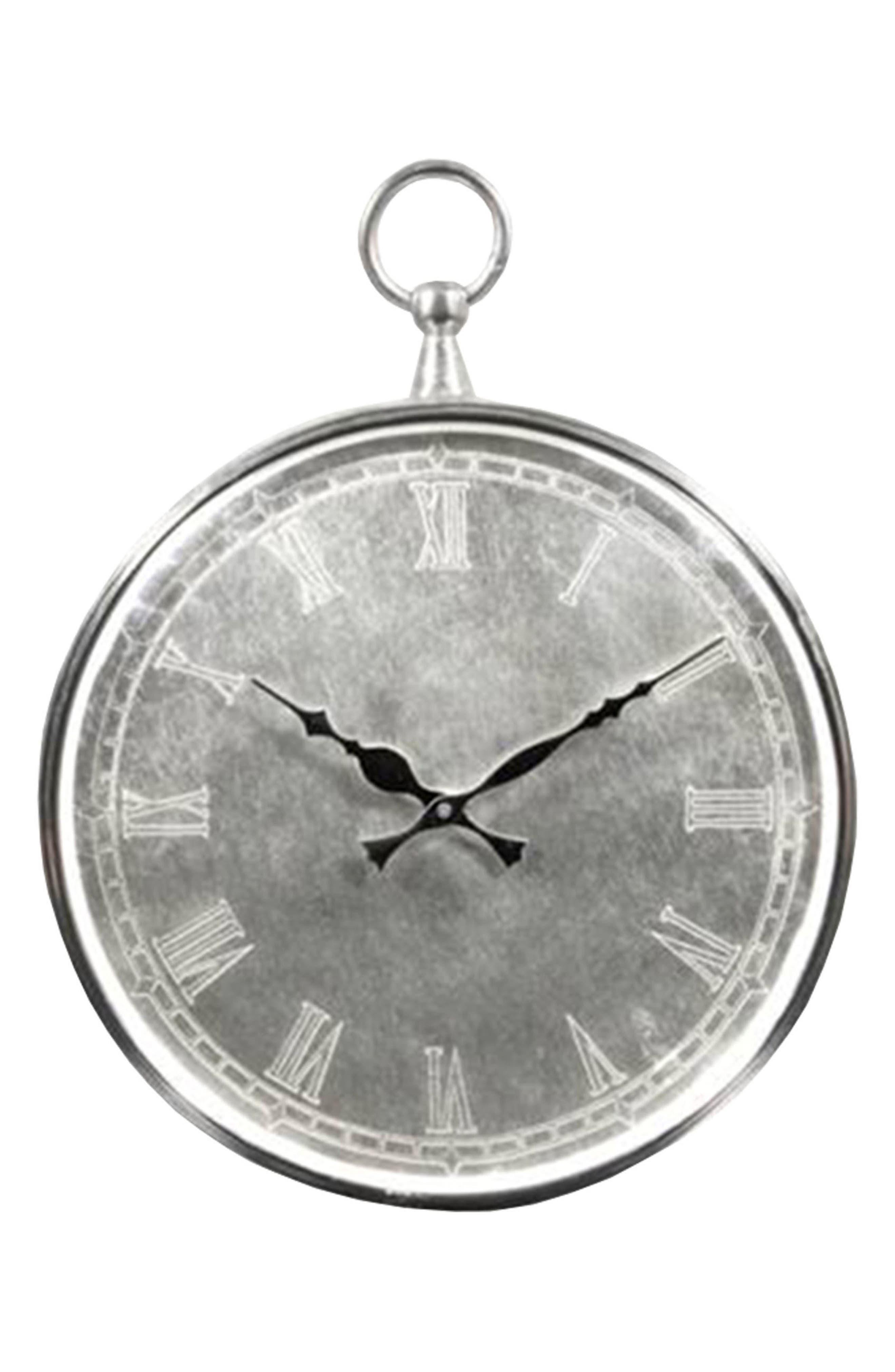 Bryony Wall Clock,                         Main,                         color, Nickel