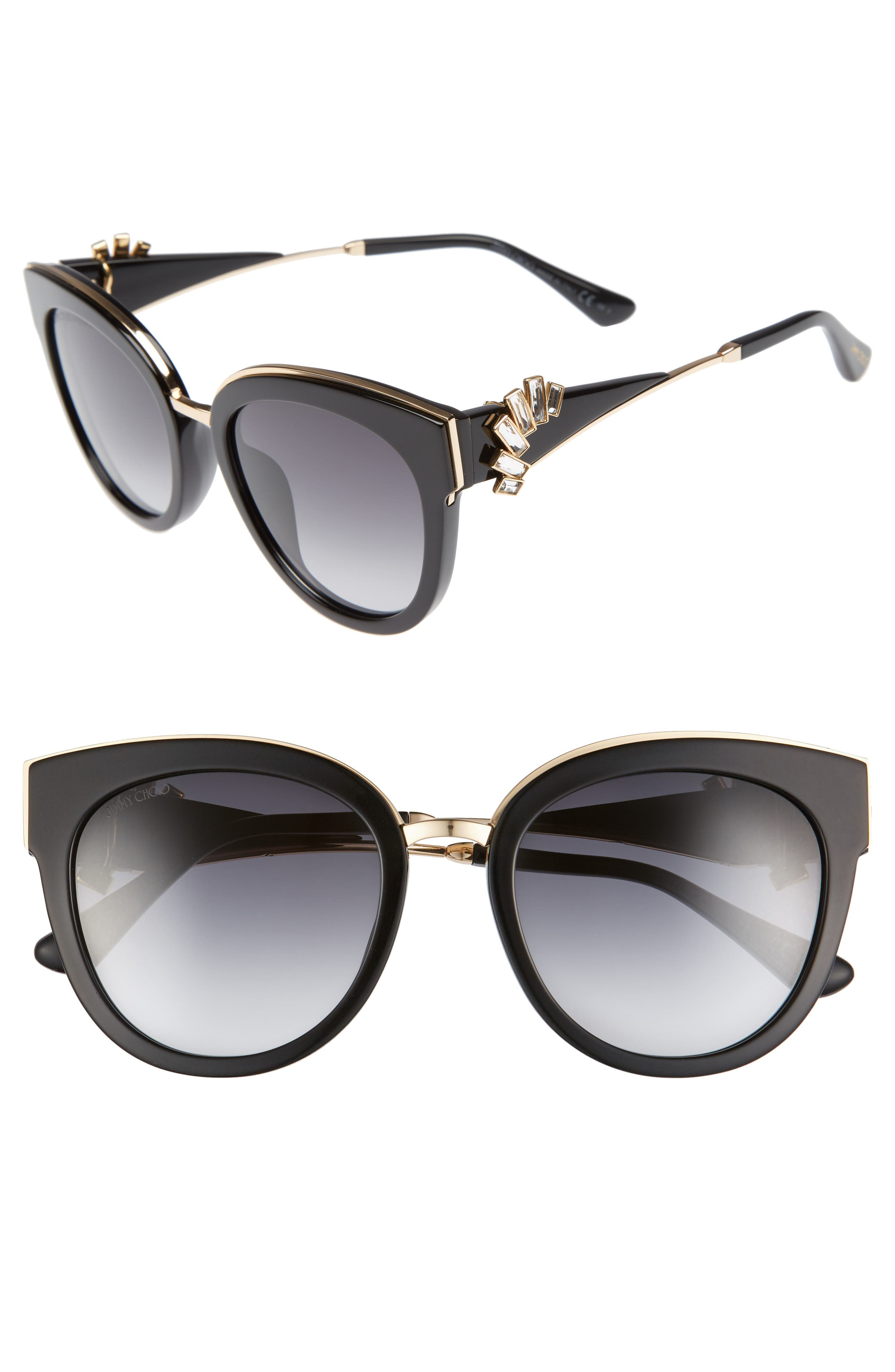 JIMMY CHOO Jades 53mm Gradient Cat Eye Sunglasses