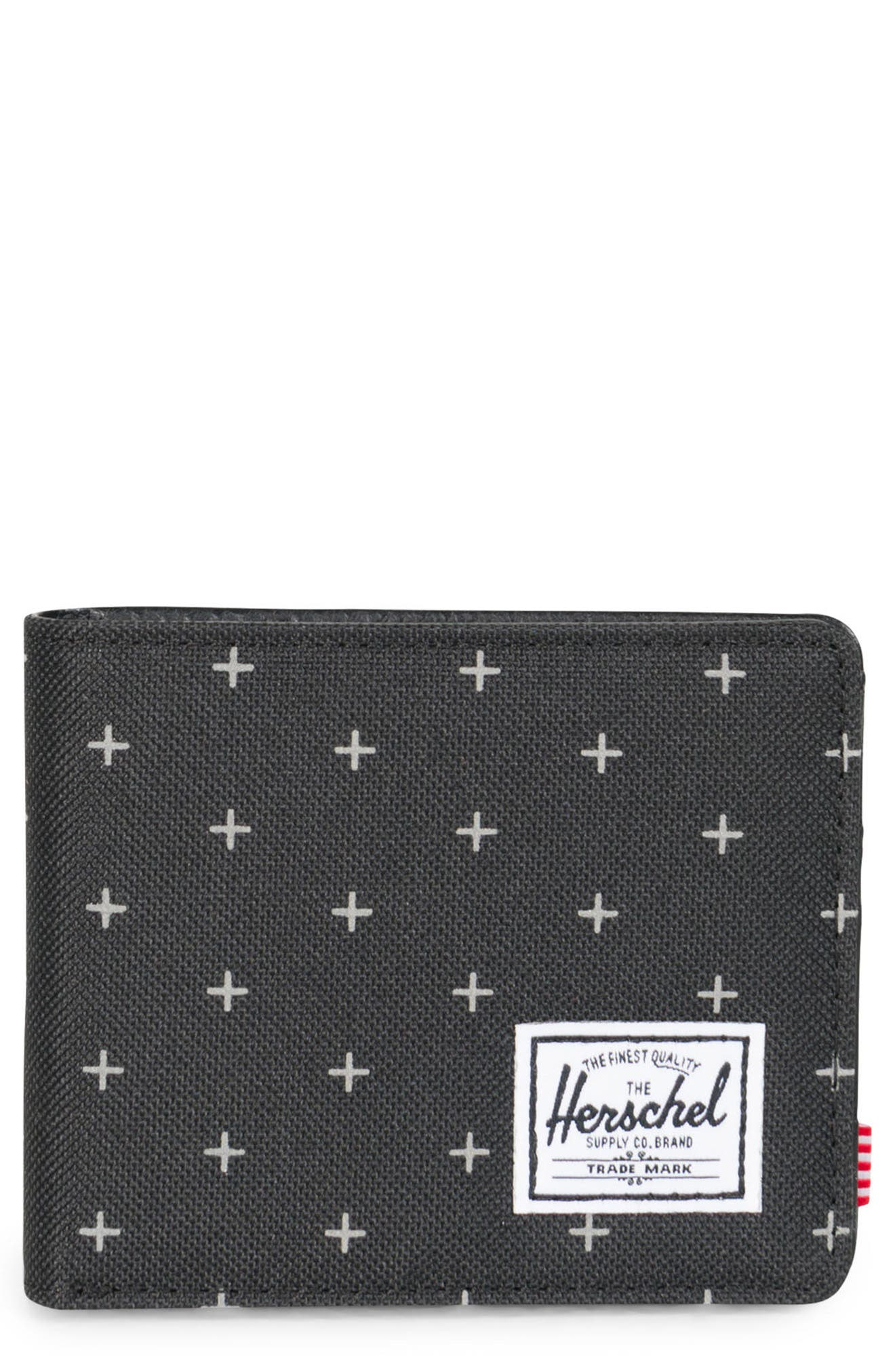 Hank RFID Wallet,                         Main,                         color, Black Gridlock/ Black Leather