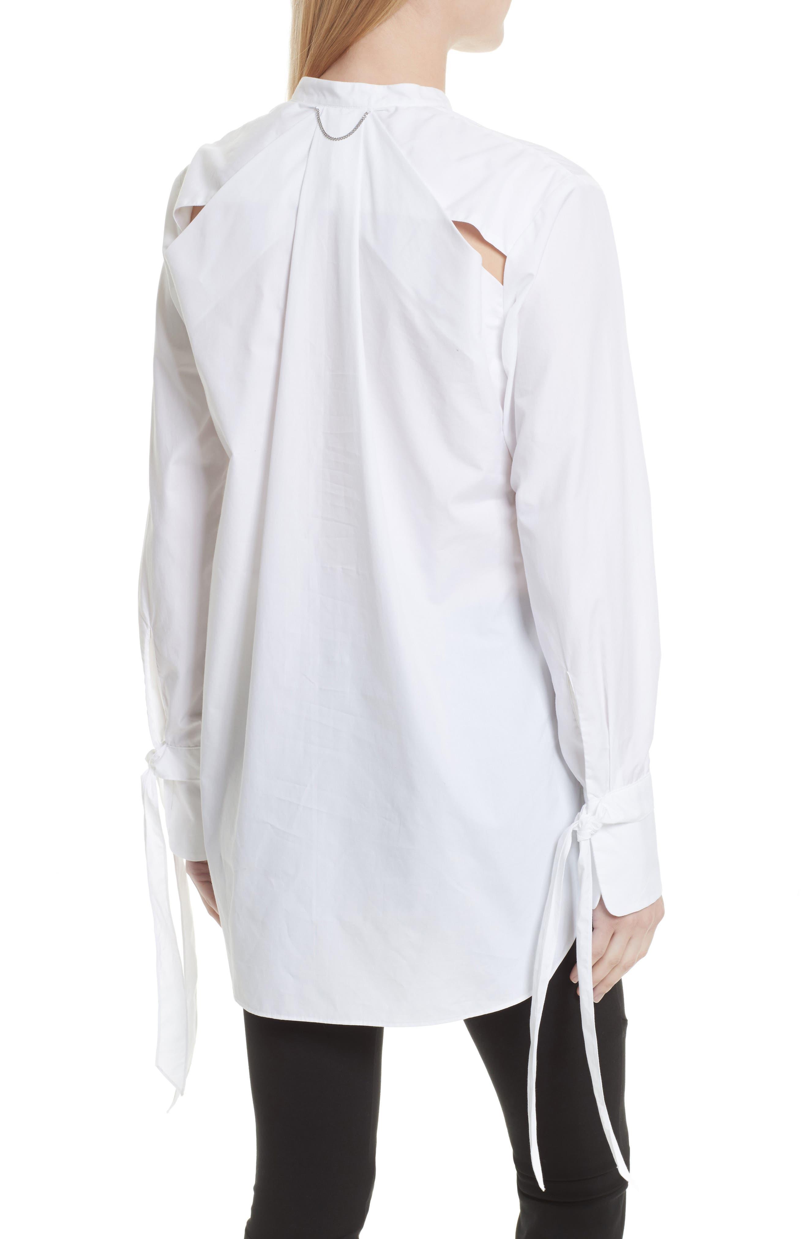 Dylan Cotton Shirt,                             Alternate thumbnail 3, color,                             White