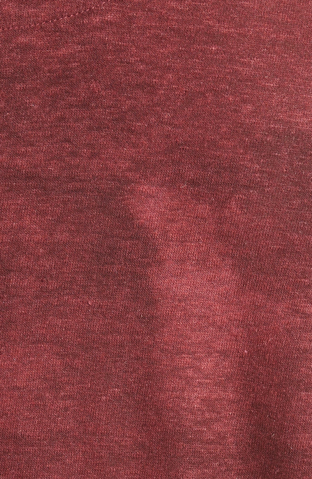 Linen Blend T-Shirt,                             Alternate thumbnail 5, color,                             Red Clay