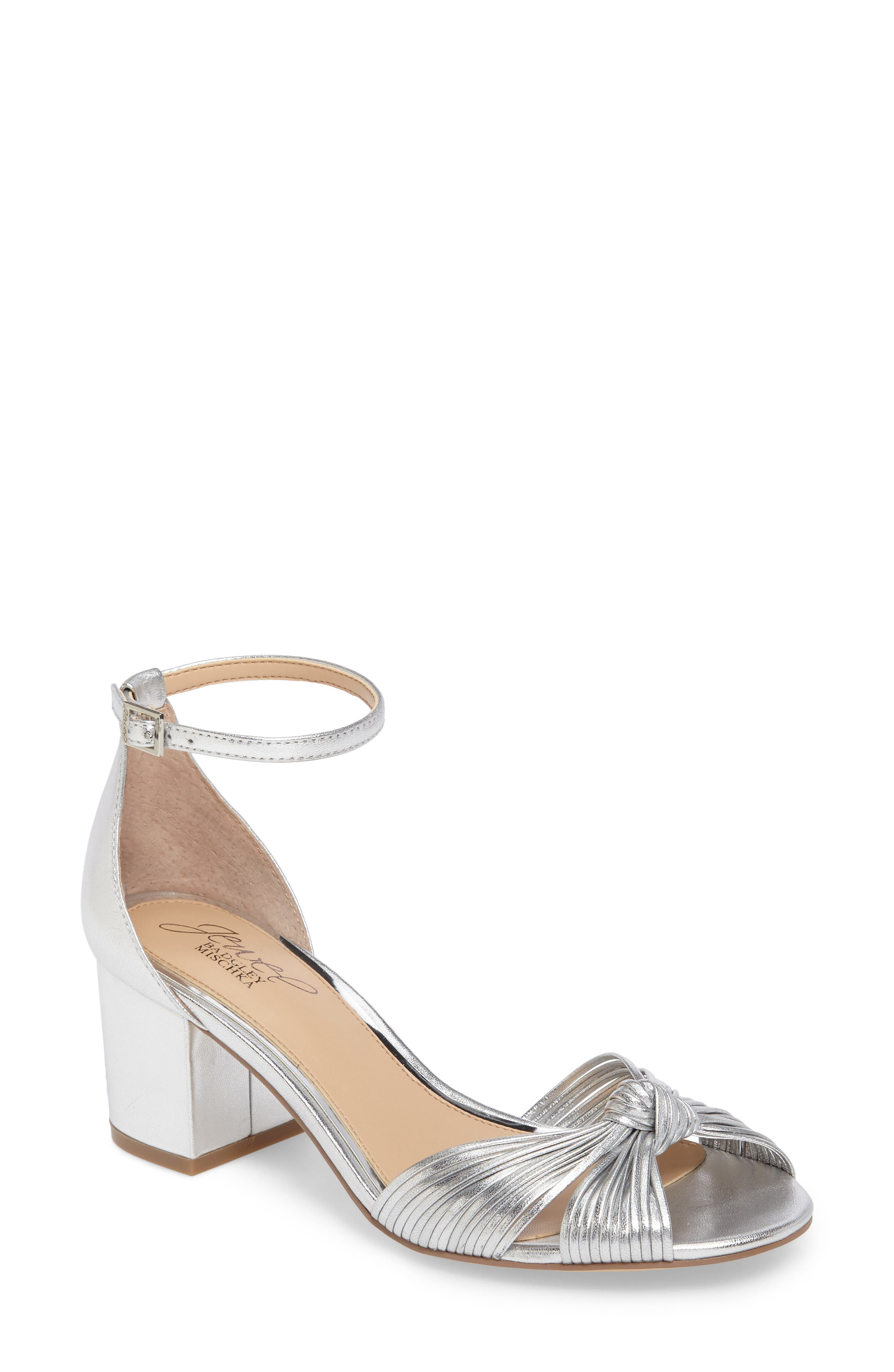 Main Image - Jewel Badgley Mischka Lacey Ankle Strap Pump (Women)