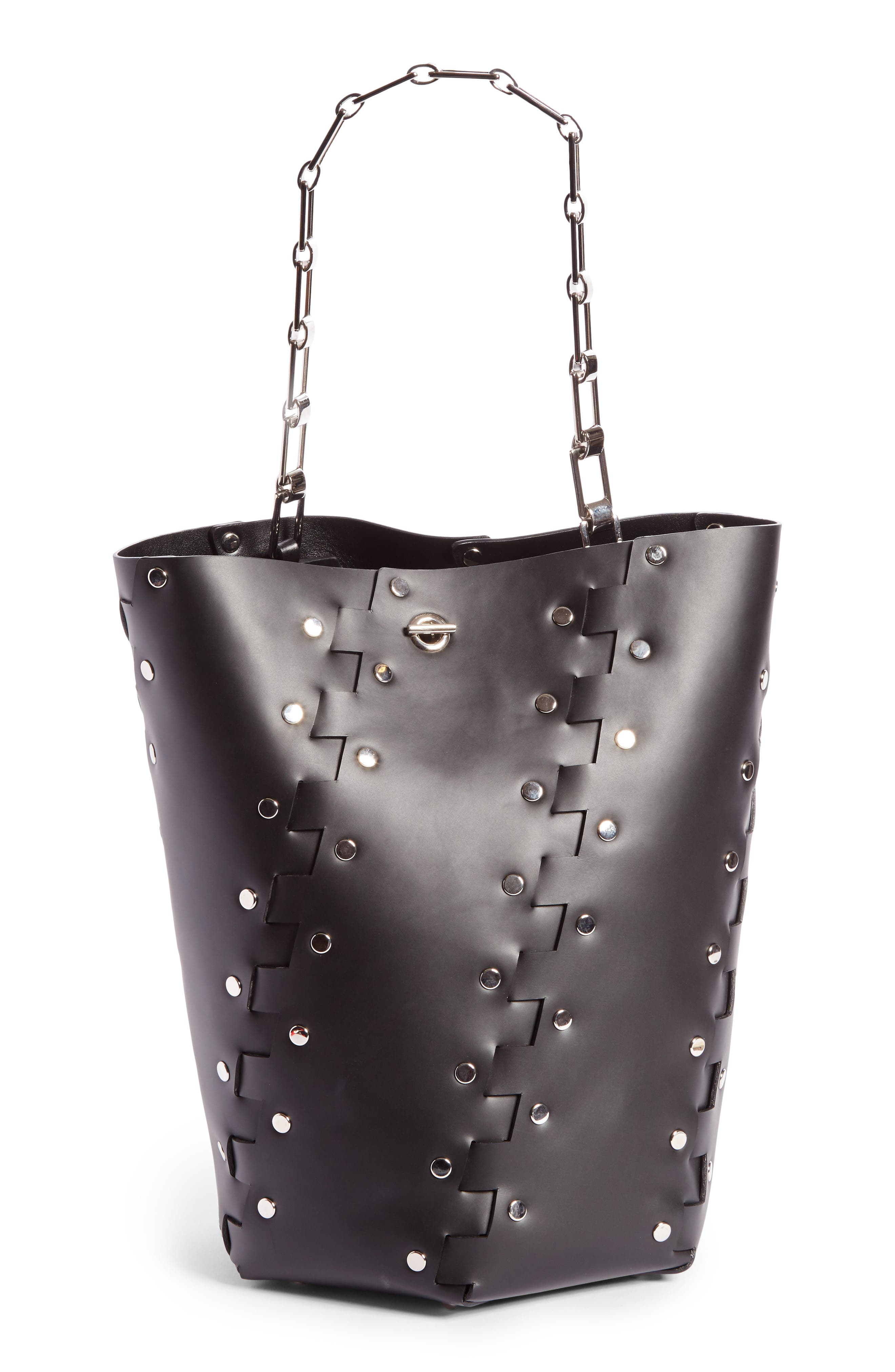Alternate Image 1 Selected - Proenza Schouler Medium Hex Studded Leather Bucket Bag