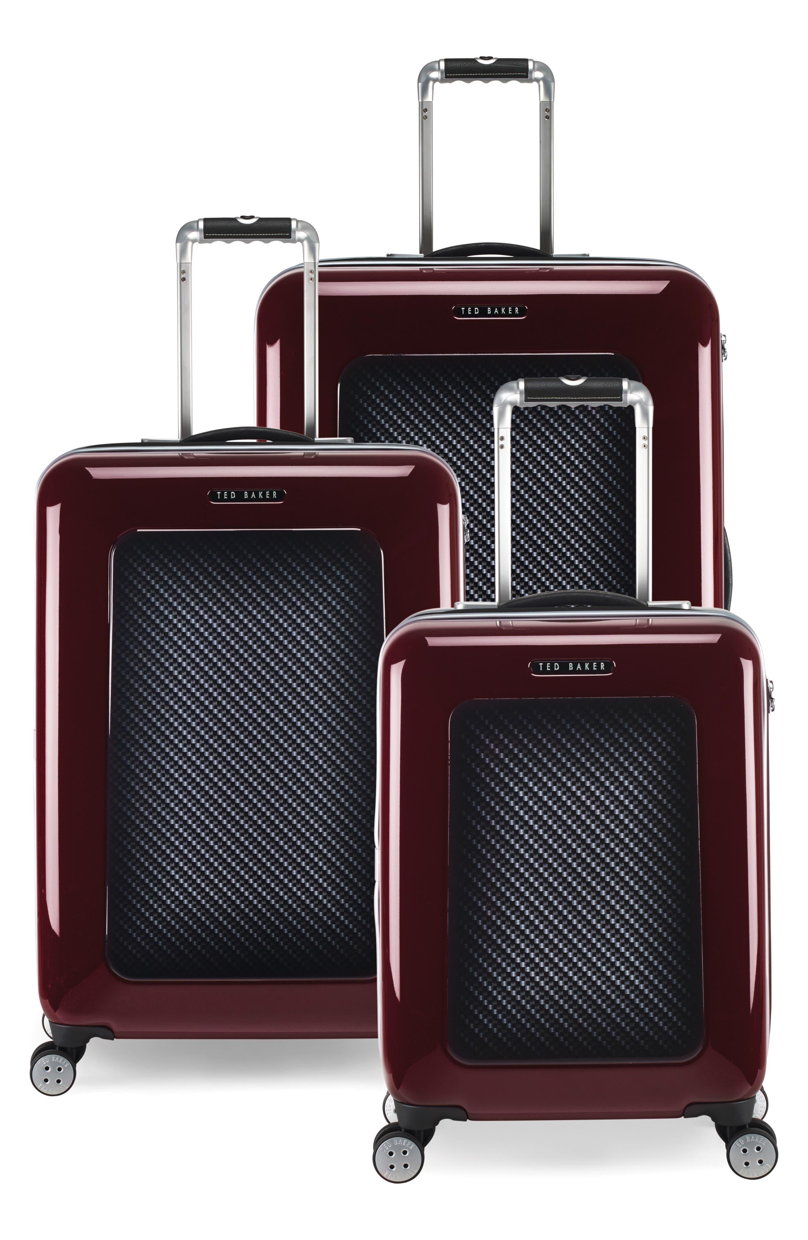 "Medium 28"" Hard Shell Spinner Suitcase,                             Alternate thumbnail 9, color,                             Burg-Graph"