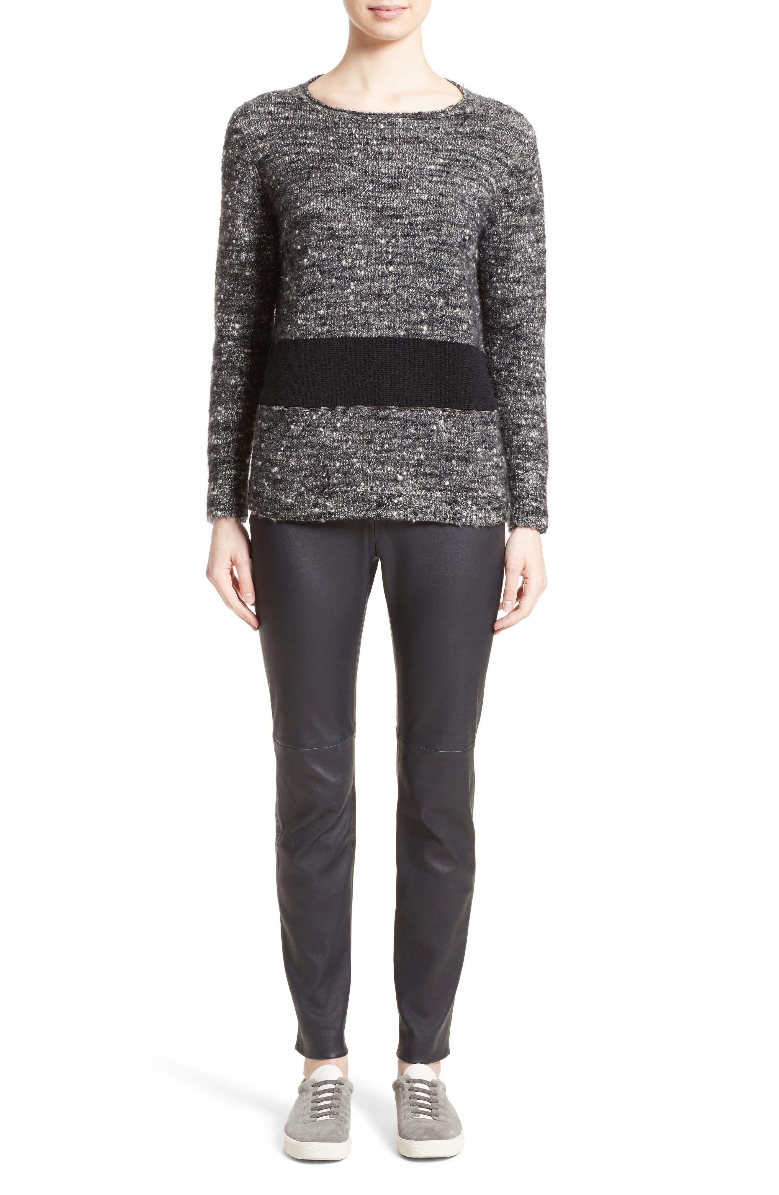 Alternate Image 7  - Fabiana Filippi Cashmere & Silk Blend Tweed Pullover