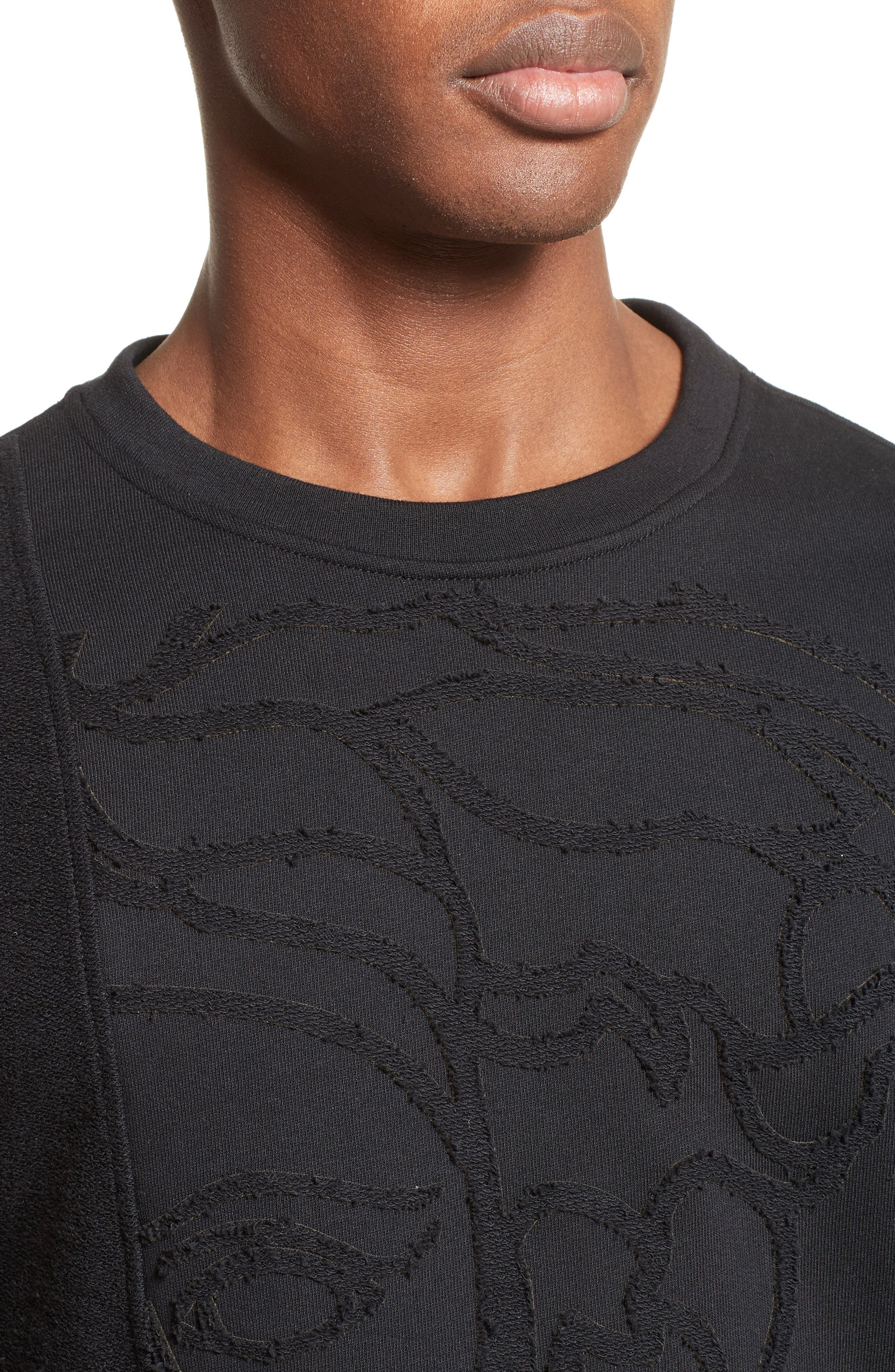 Reverse Terry Medusa Sweatshirt,                             Alternate thumbnail 4, color,                             Black