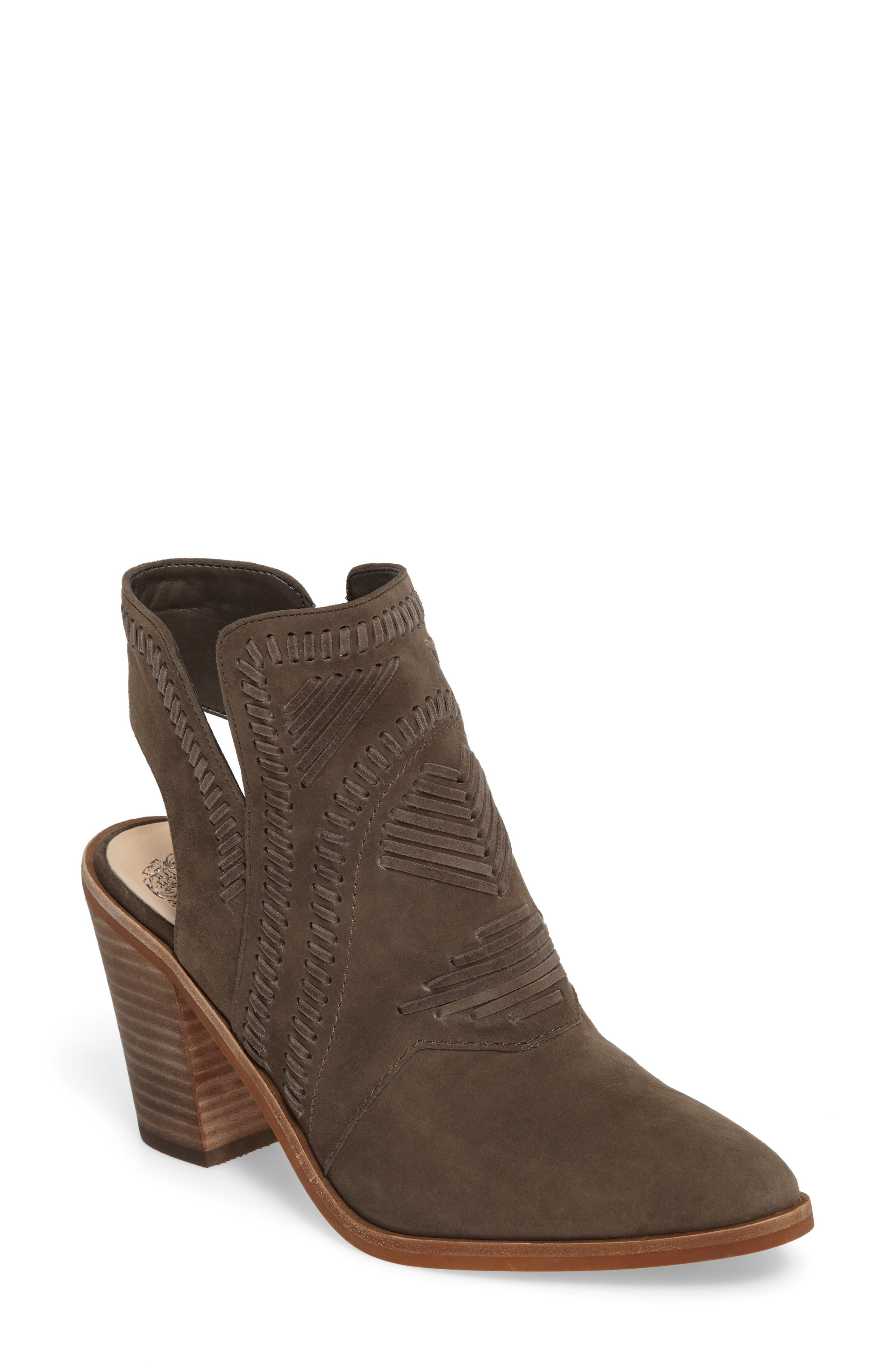 Binks Bootie,                             Main thumbnail 1, color,                             Green Suede