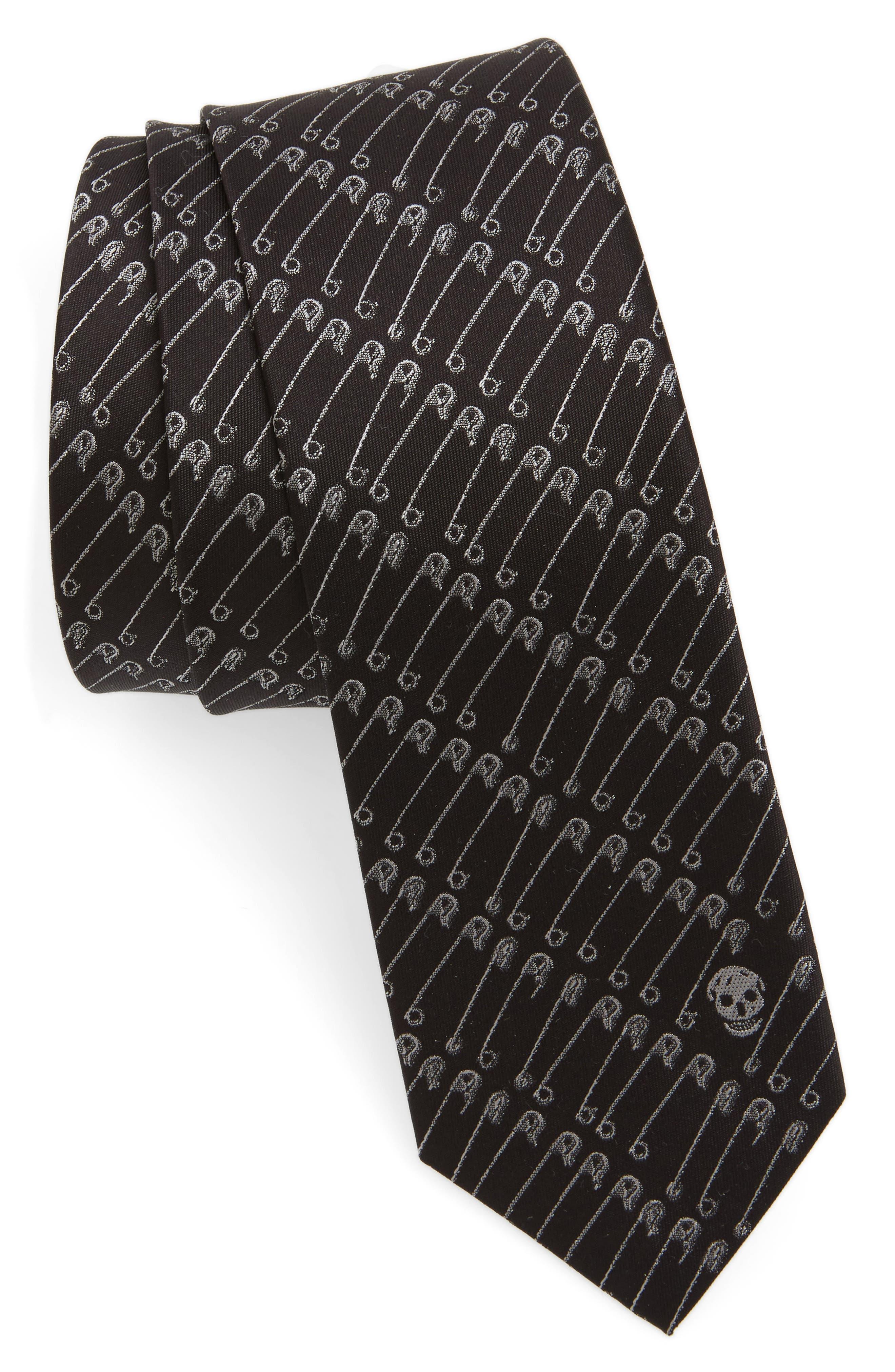 CR Punk Silk Tie,                         Main,                         color, Black/ Light Grey