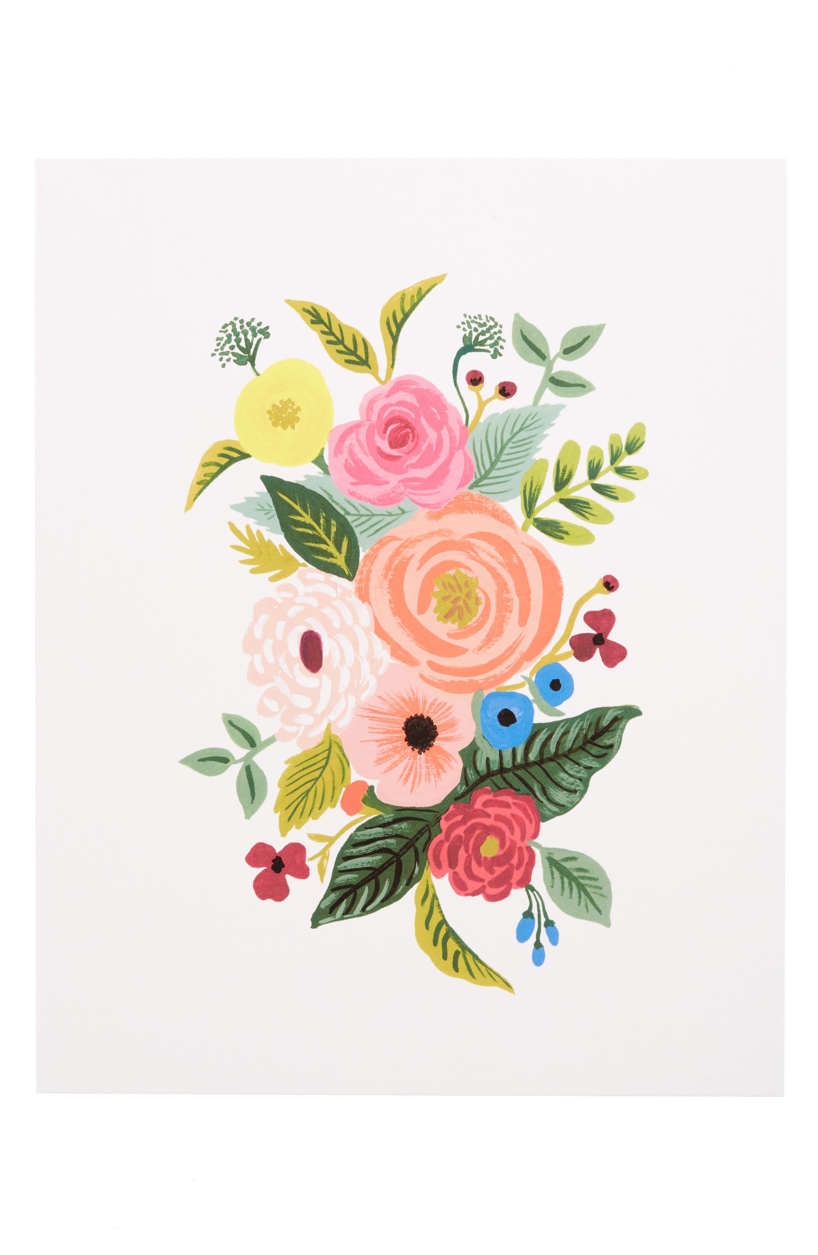 Alternate Image 1 Selected - Rifle Paper Co. Juliet Rose Art Print