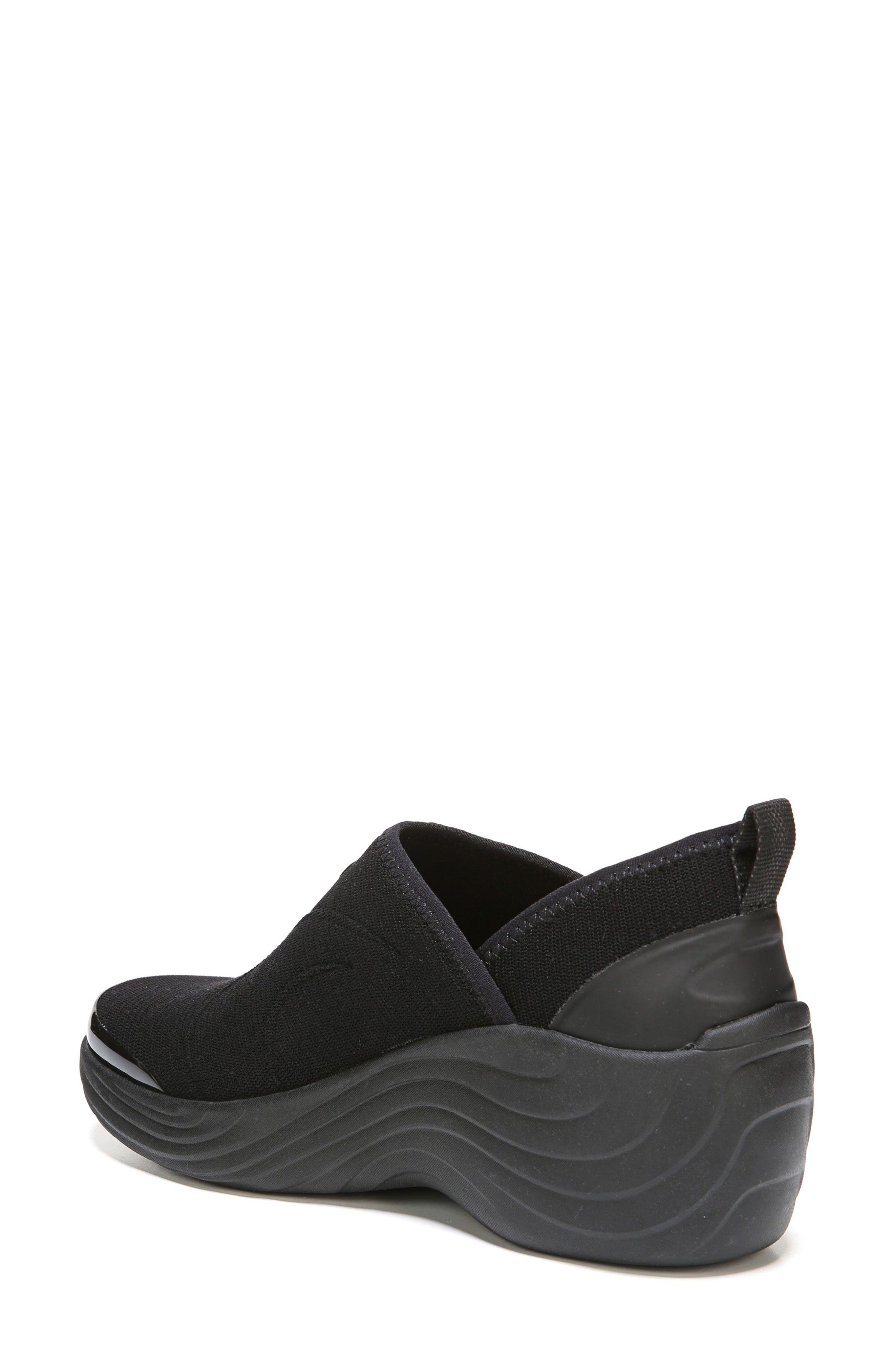 Zsa Zsa Wedge Sneaker,                             Alternate thumbnail 2, color,                             Black Fabric