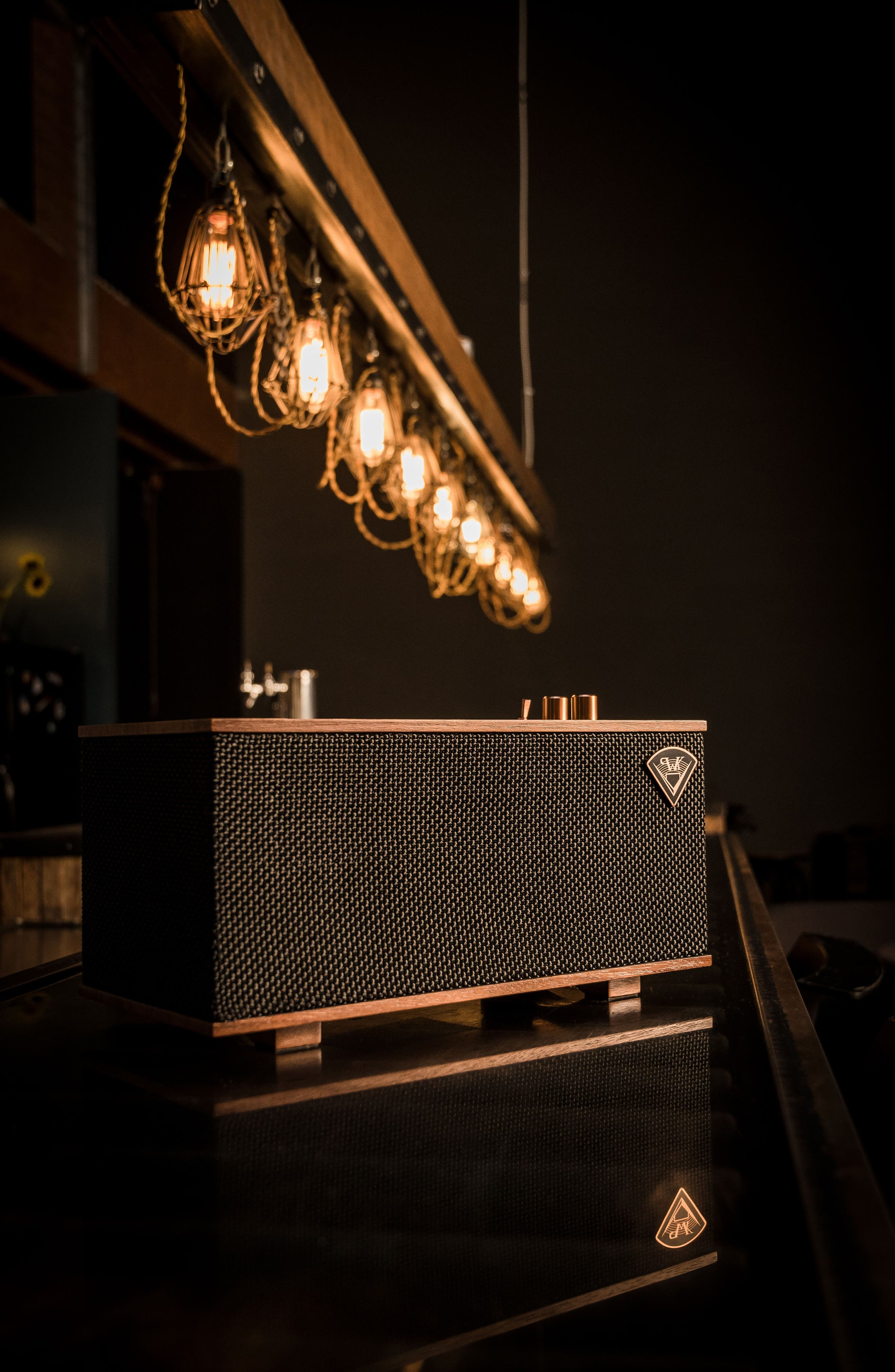 Klipsch The Three Bluetooth<sup>®</sup> Speaker,                             Alternate thumbnail 8, color,                             Ebony