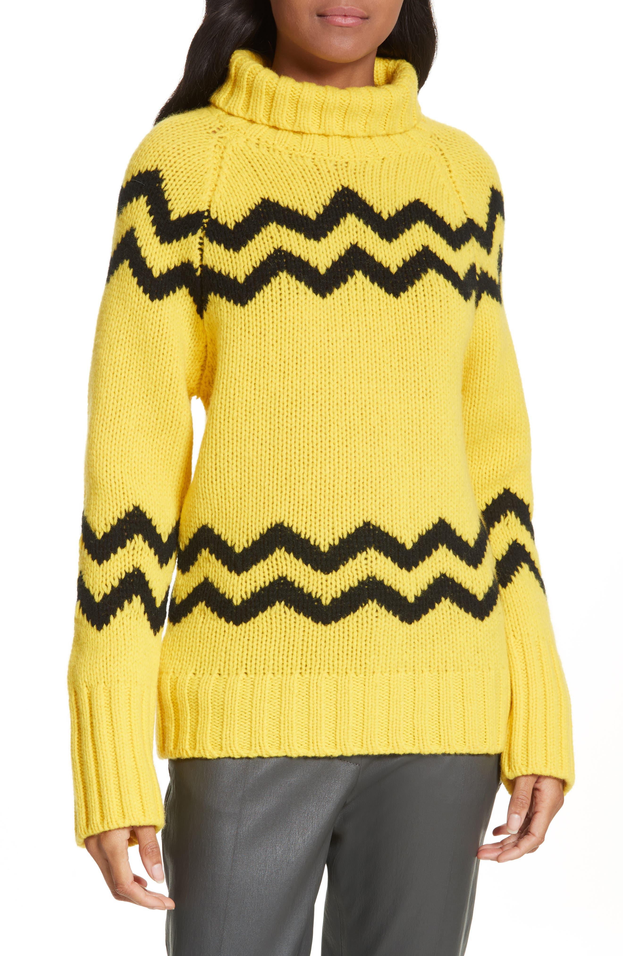 Main Image - JOSEPH Chunky Intarsia Turtleneck Sweater