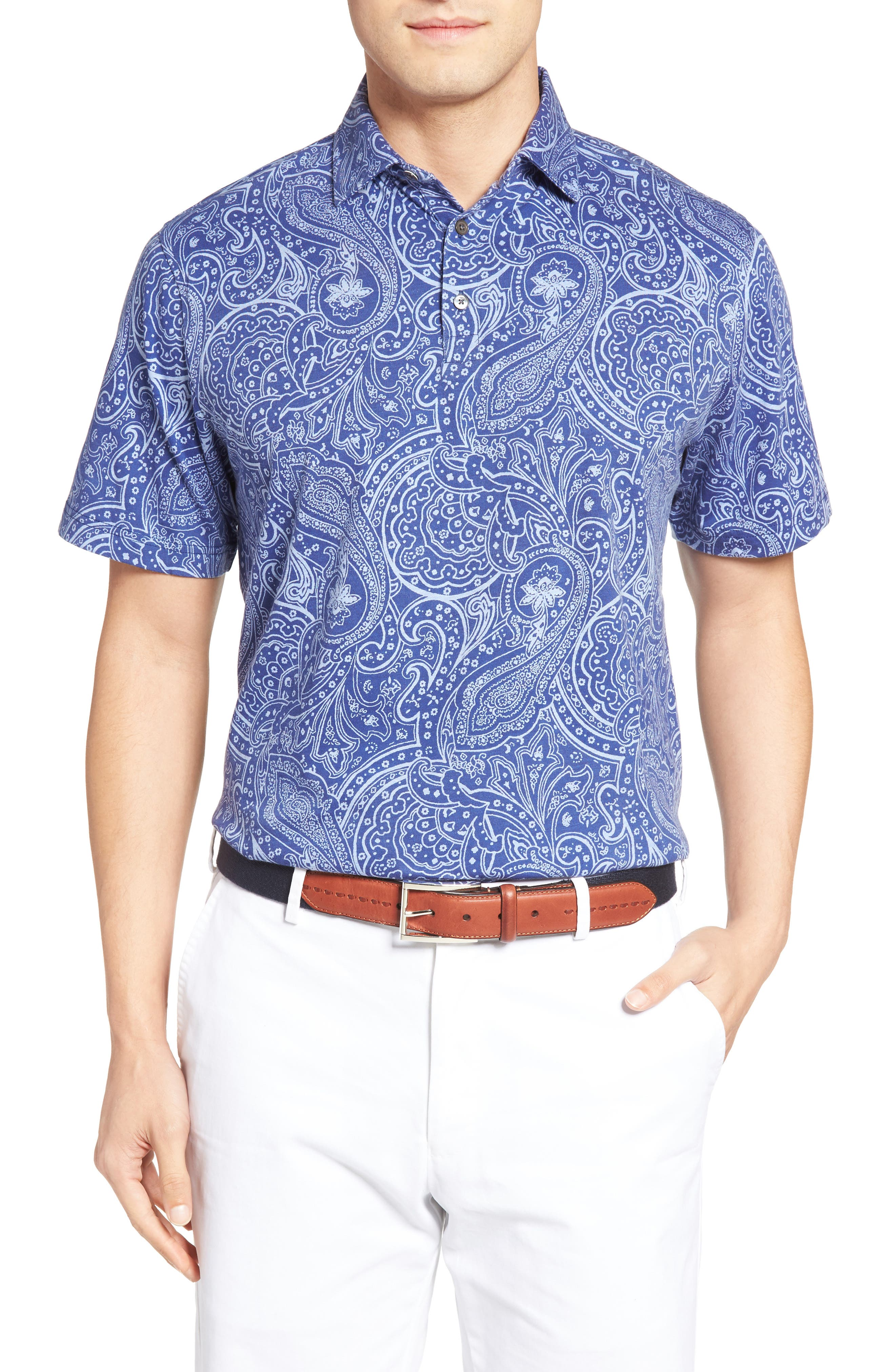 PETER MILLAR Crown Paisley Polo
