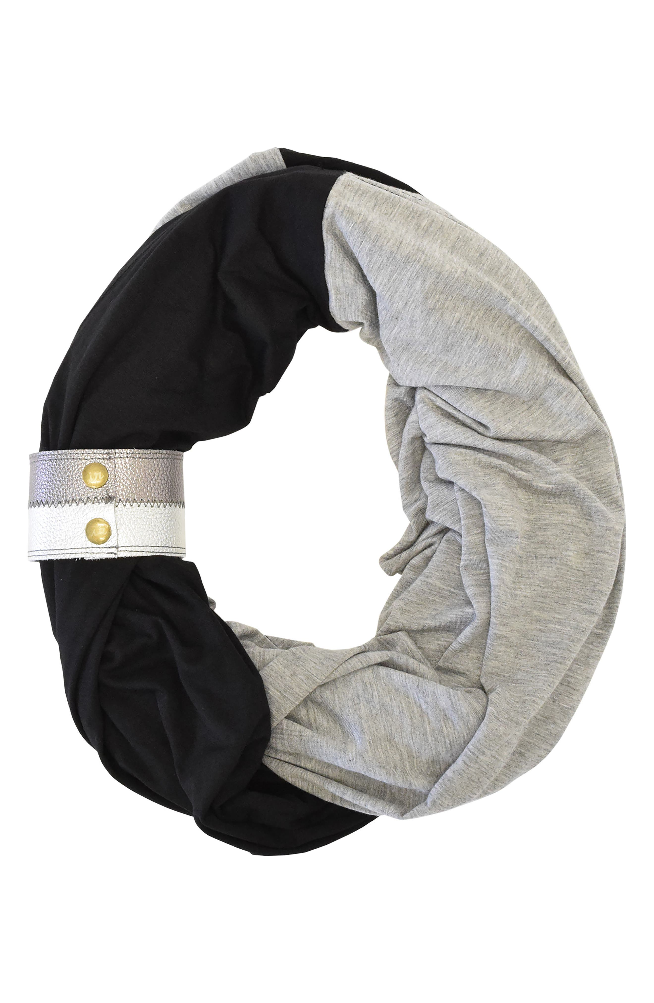 Alternate Image 1 Selected - Itzy Ritzy Infinity Nursing Scarf with Leather Cuff