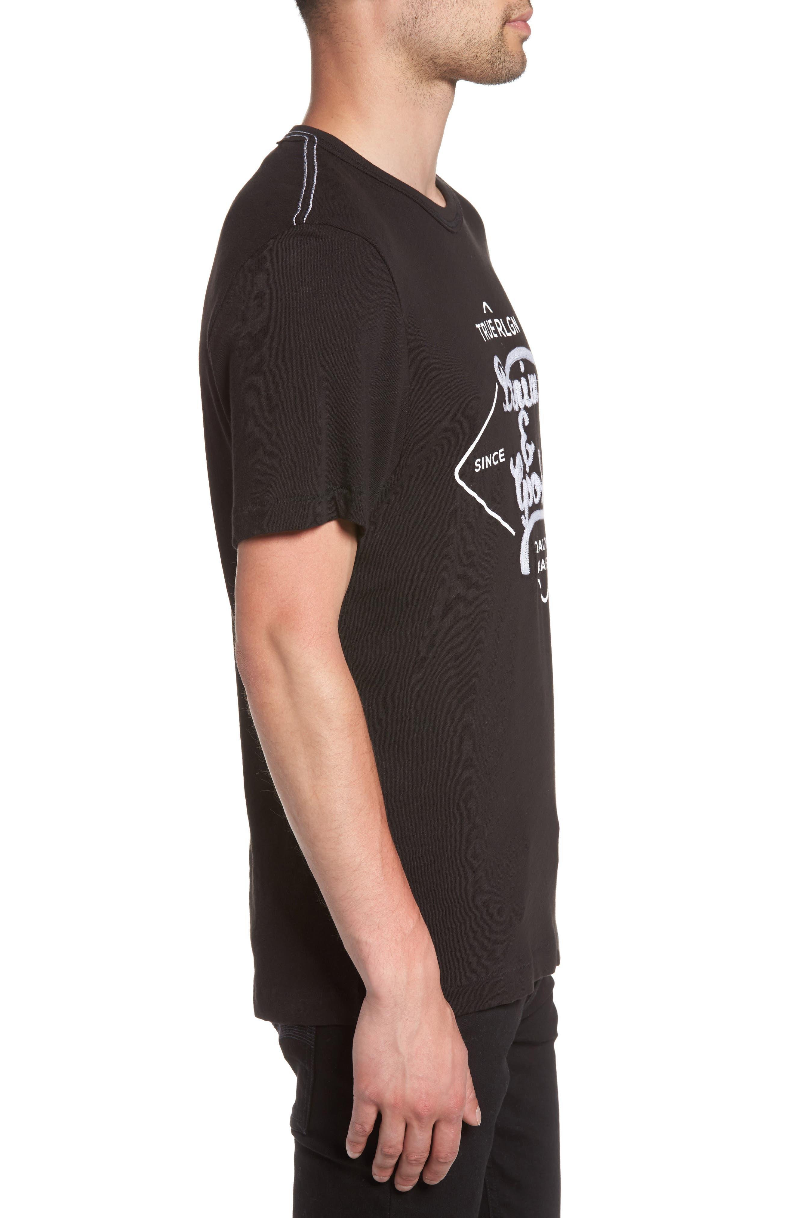 Denim Goods T-Shirt,                             Alternate thumbnail 3, color,                             Black