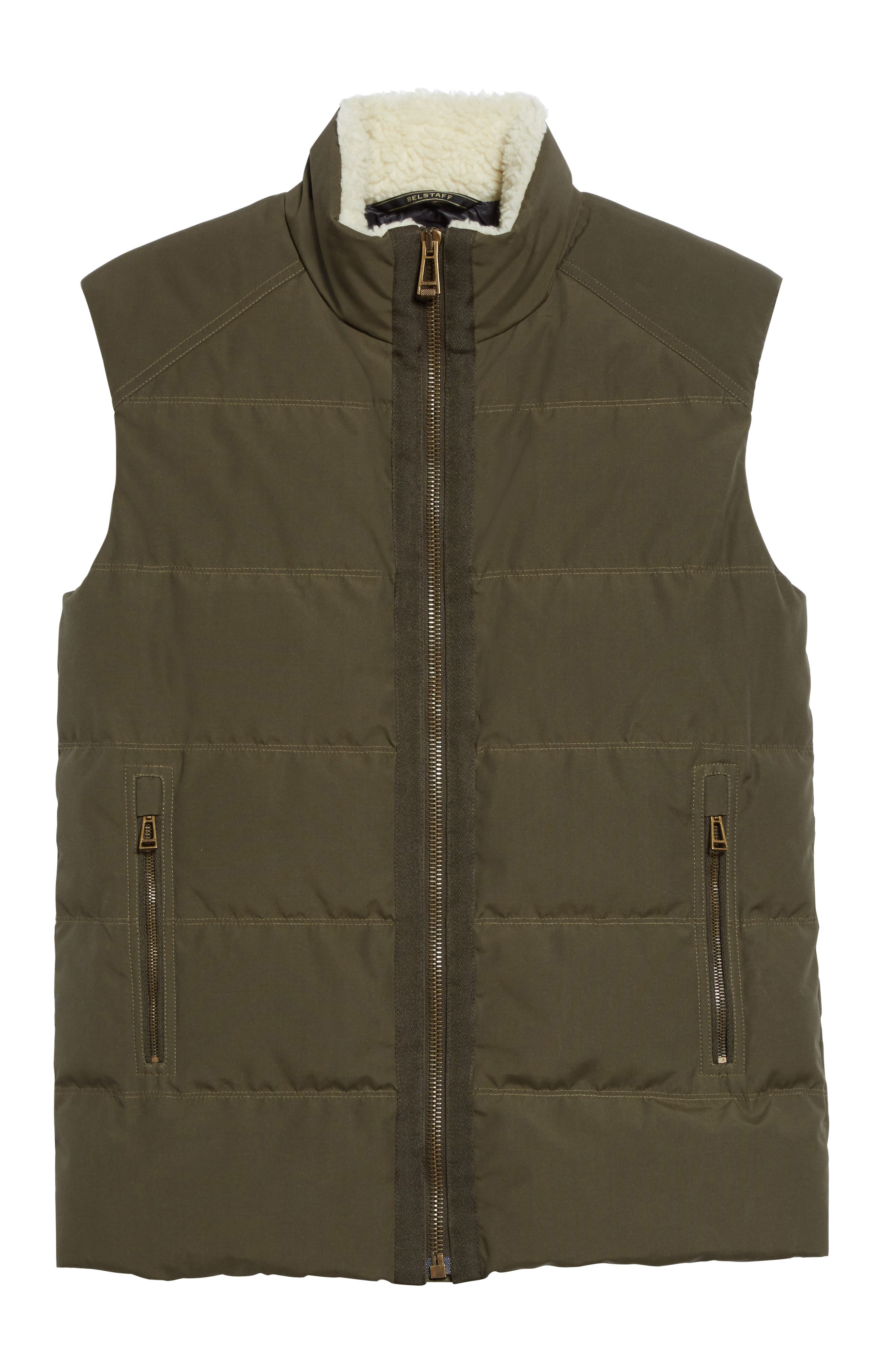 Fyfield Quilted Vest,                             Alternate thumbnail 6, color,                             Military Green
