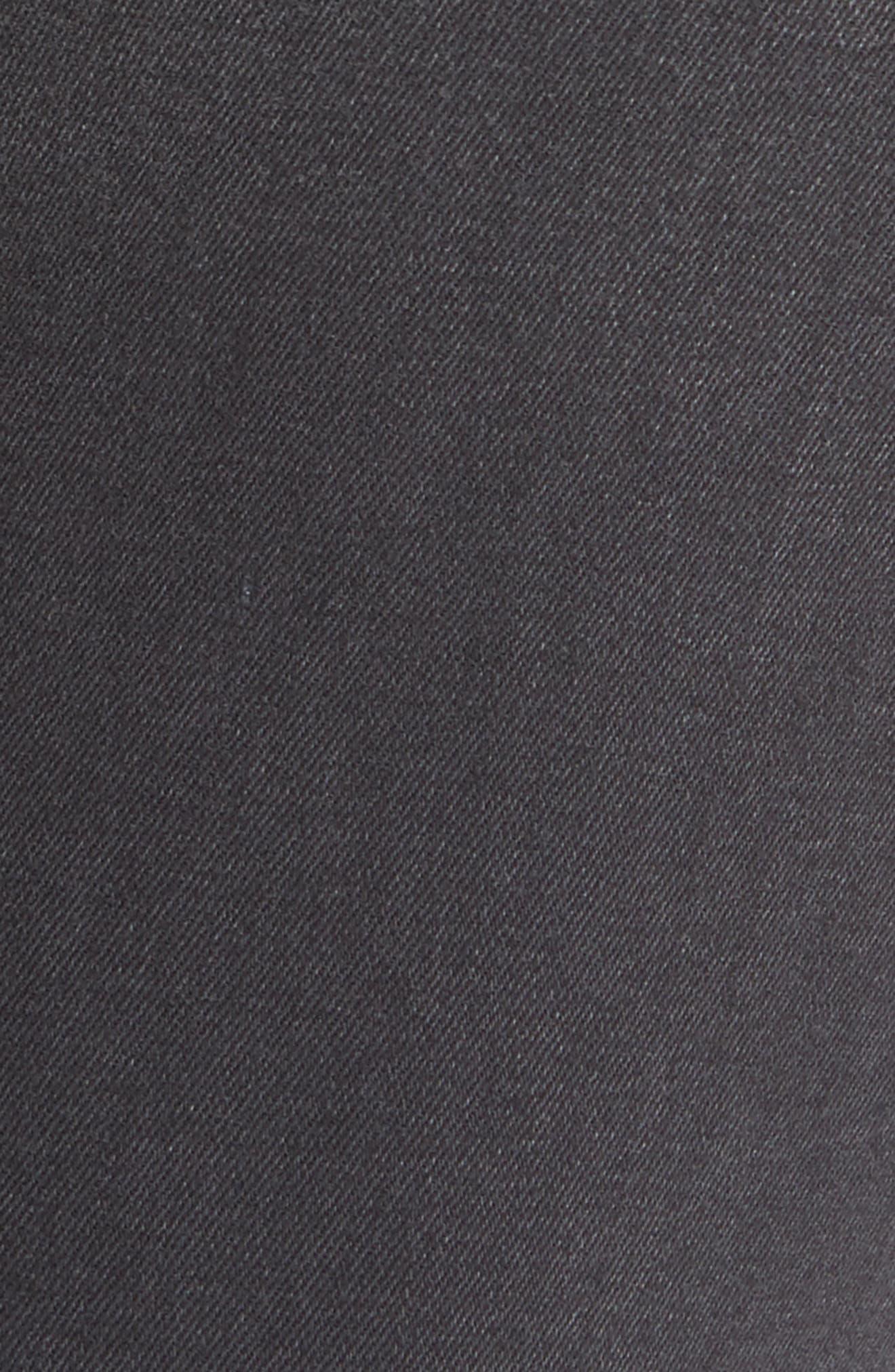 Two Tone Stretch Girlfriend Jeans,                             Alternate thumbnail 5, color,                             Cassiar