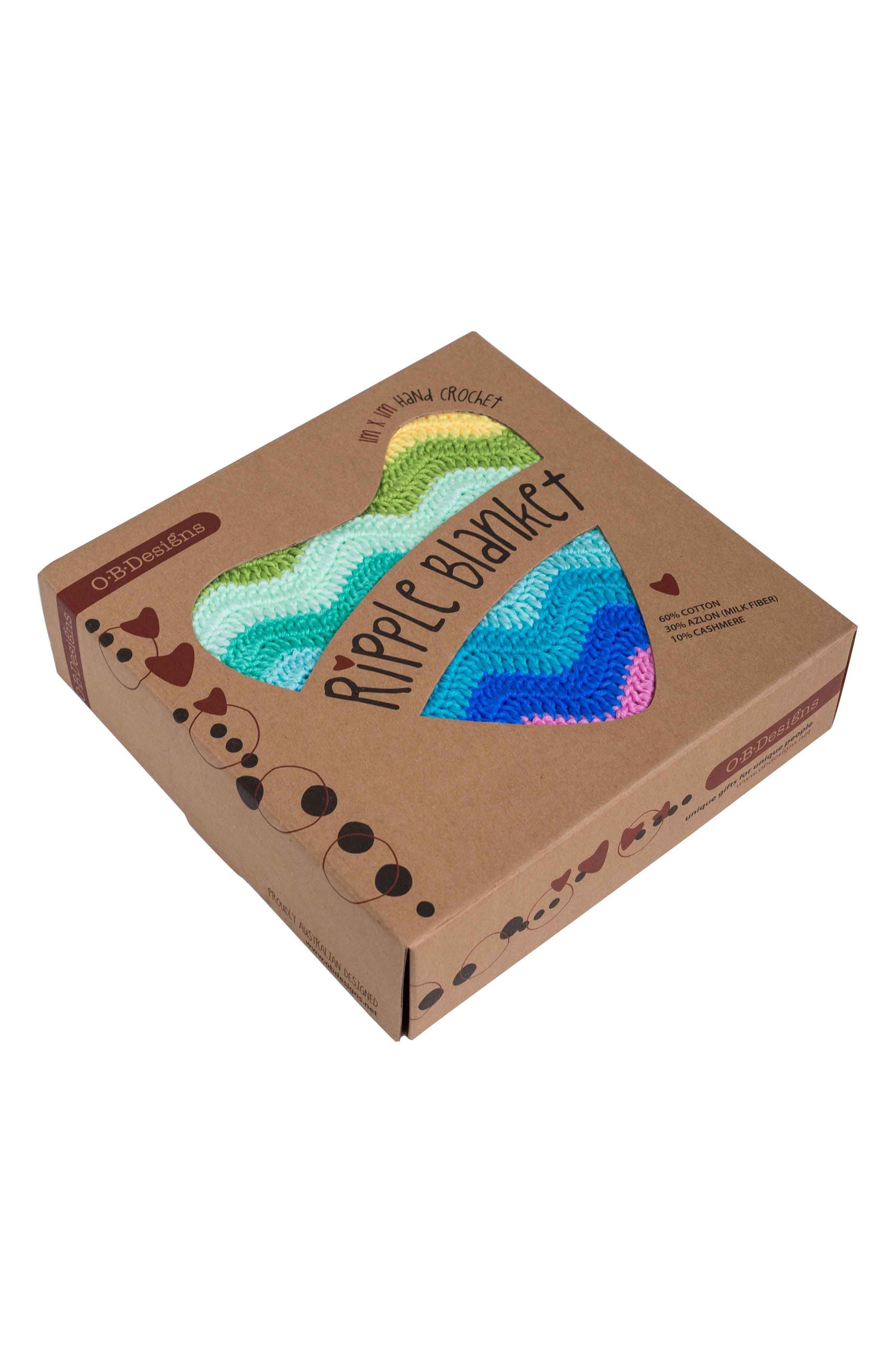 Alternate Image 4  - O.B. Designs Ripple Crocheted Blanket (Baby)