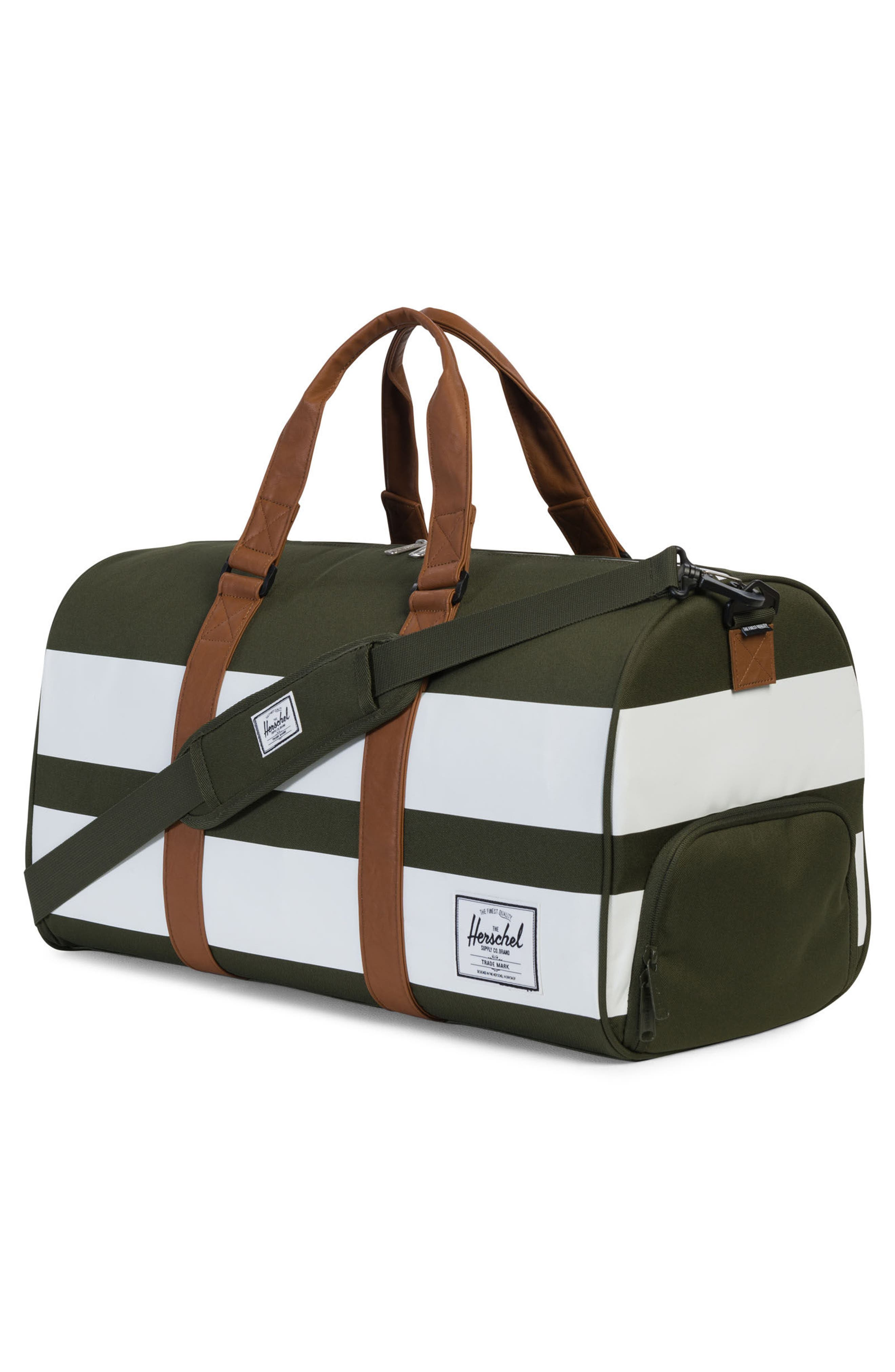 Novel Rugby Stripe Duffel,                             Alternate thumbnail 3, color,                             Forest Night Rugby Strip