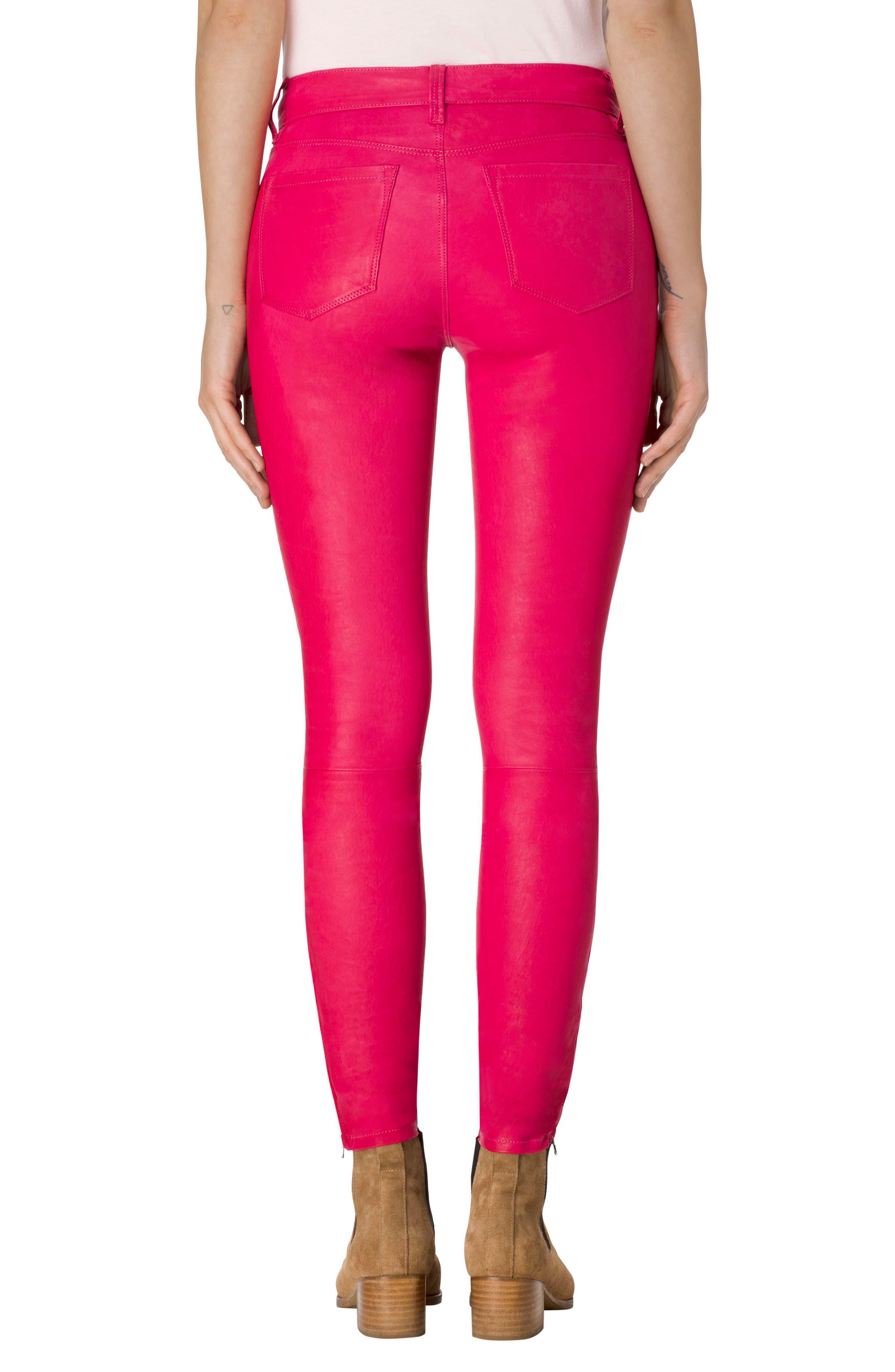 Alternate Image 2  - J Brand '8001' Lambskin Leather Pants