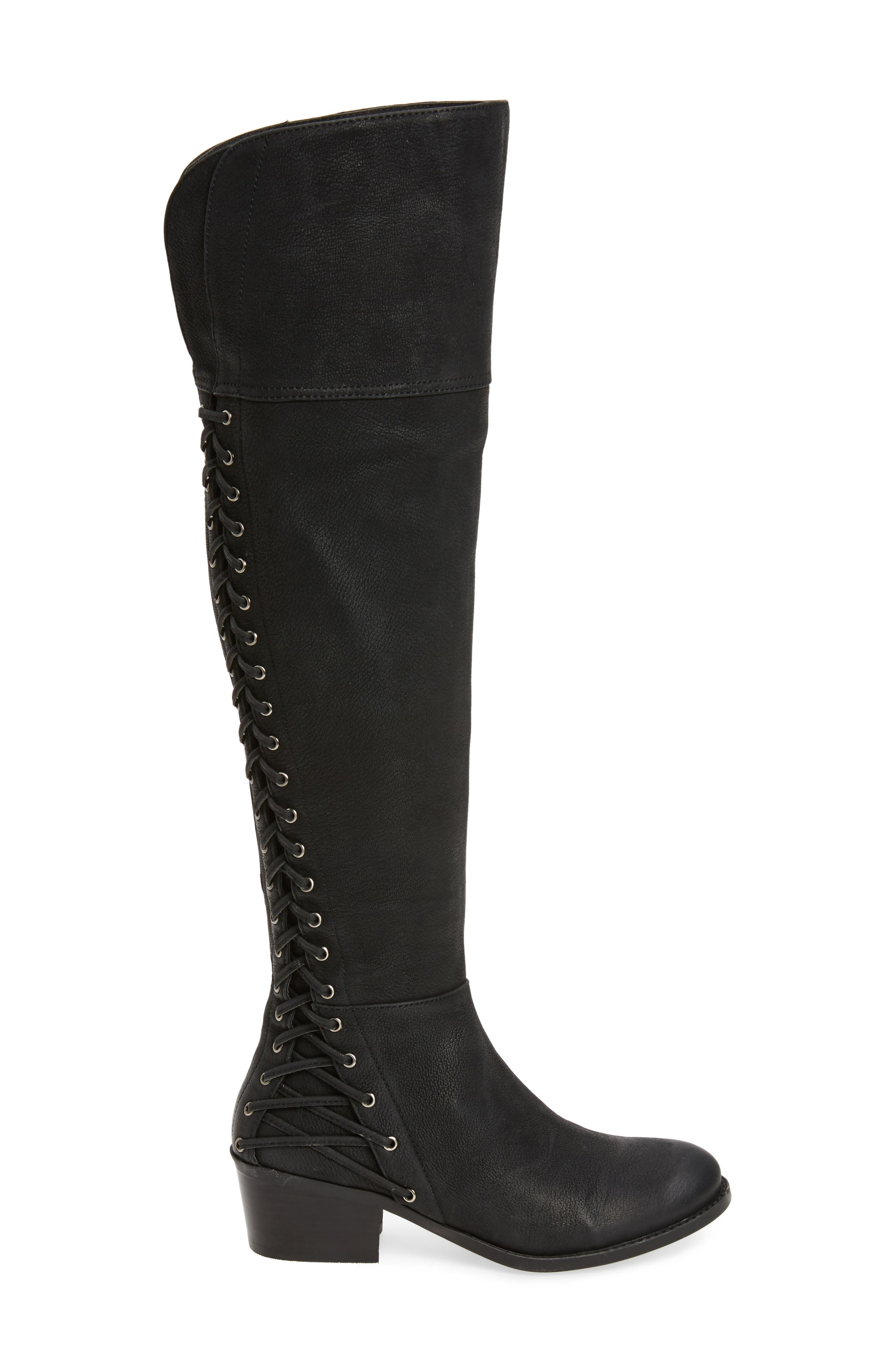 Bolina Over the Knee Boot,                             Alternate thumbnail 3, color,                             Black