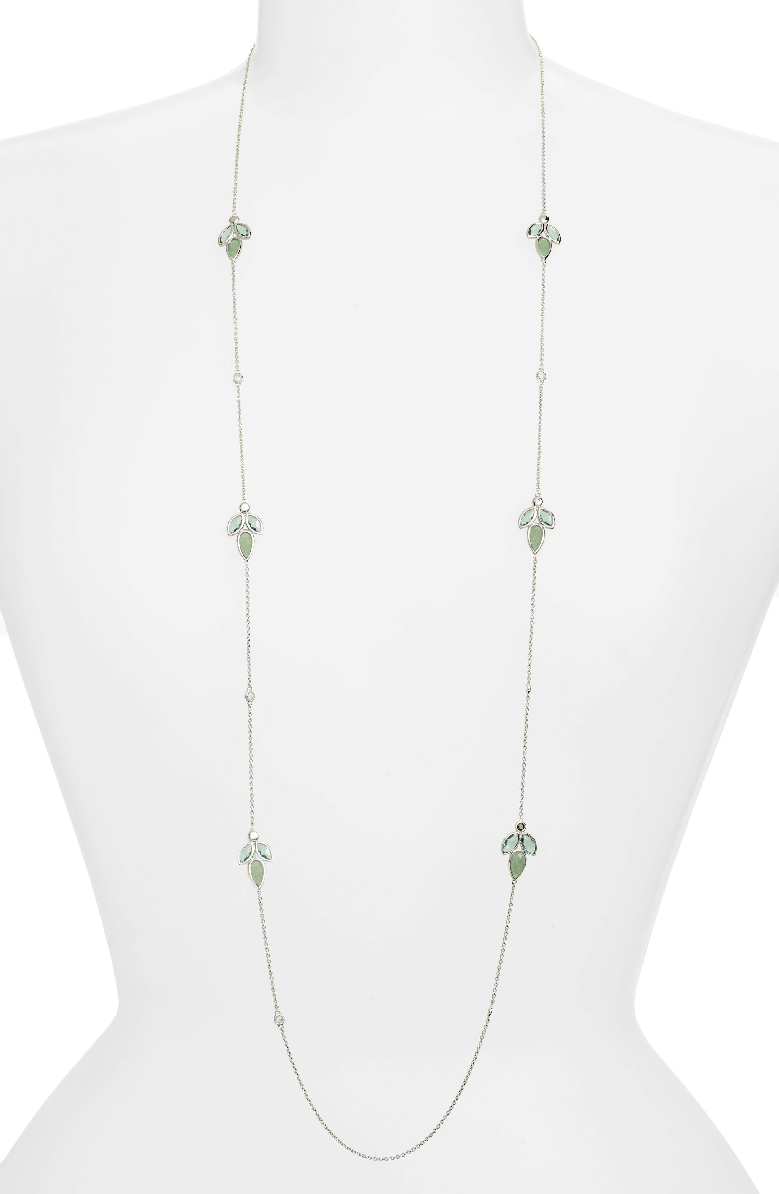 Lakeside Station Necklace,                             Main thumbnail 1, color,                             Green/ Black Diamond