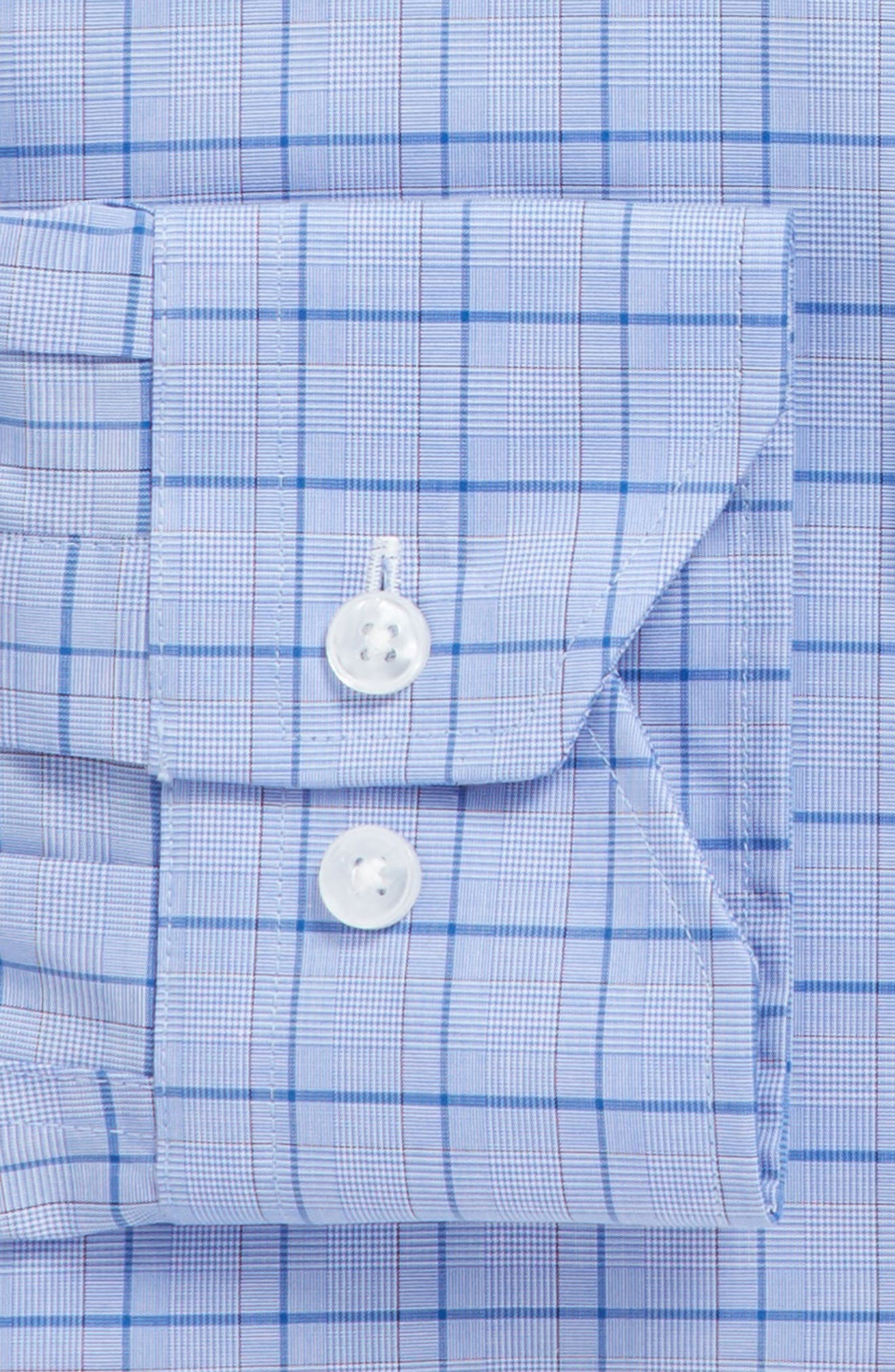 Alternate Image 3  - Lorenzo Uomo Trim Fit Plaid Dress Shirt