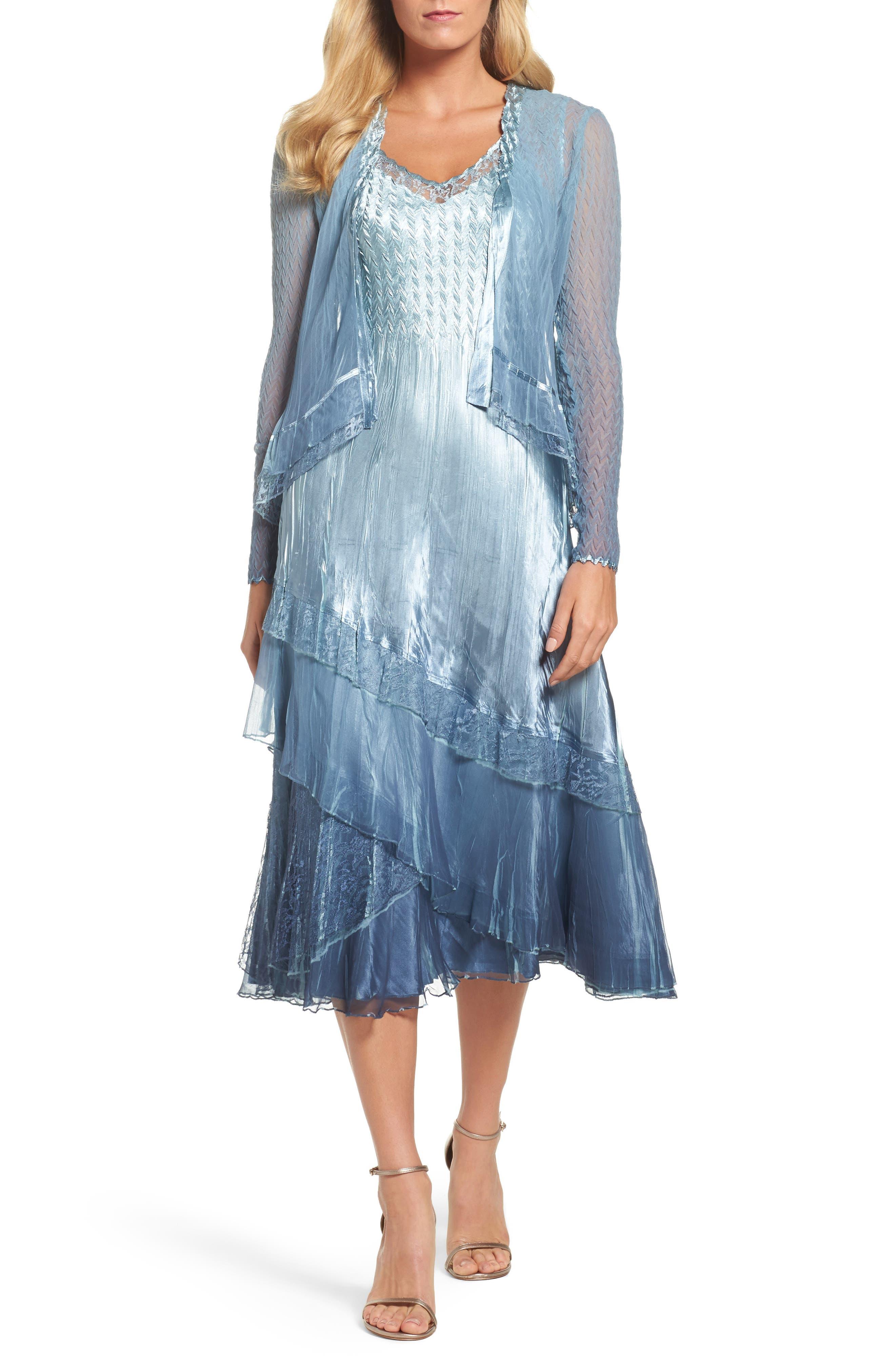Komarov Tiered Dress & Jacket (Regular & Petite)