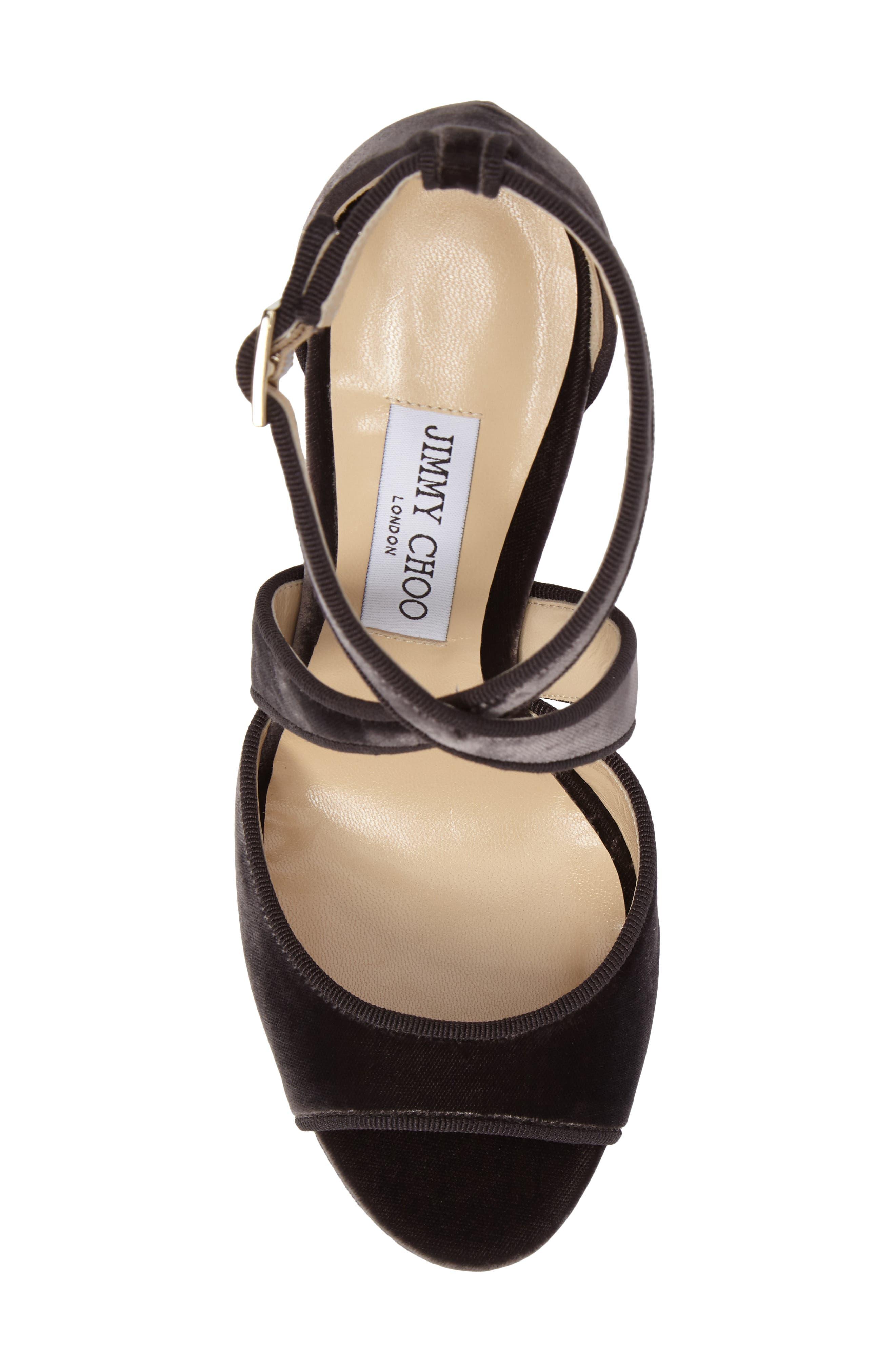April Platform Sandal,                             Alternate thumbnail 5, color,                             Dark Mink Velvet
