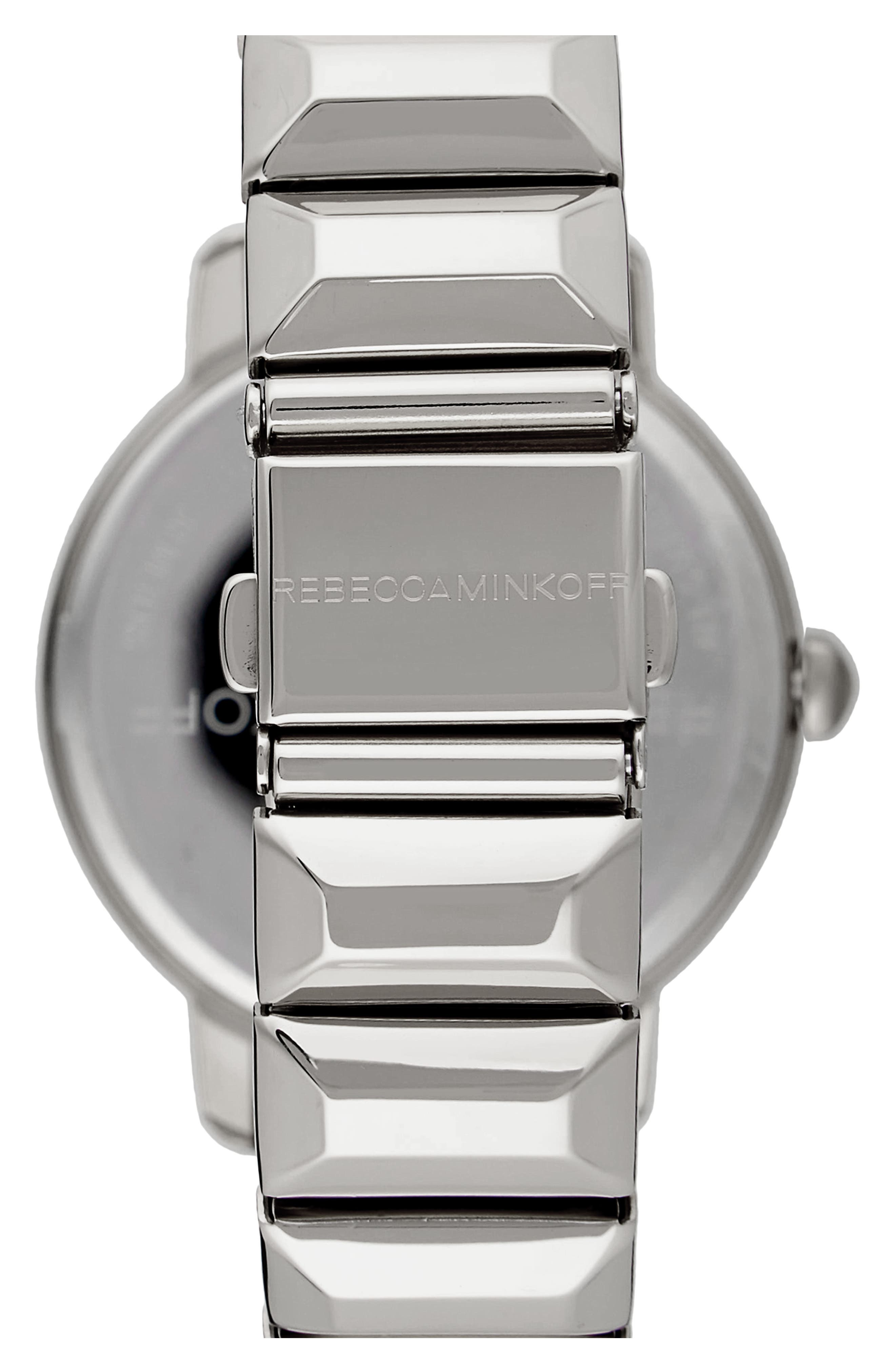 BFFL Bracelet Watch, 36mm,                             Alternate thumbnail 2, color,                             Silver/ Blush/ Silver