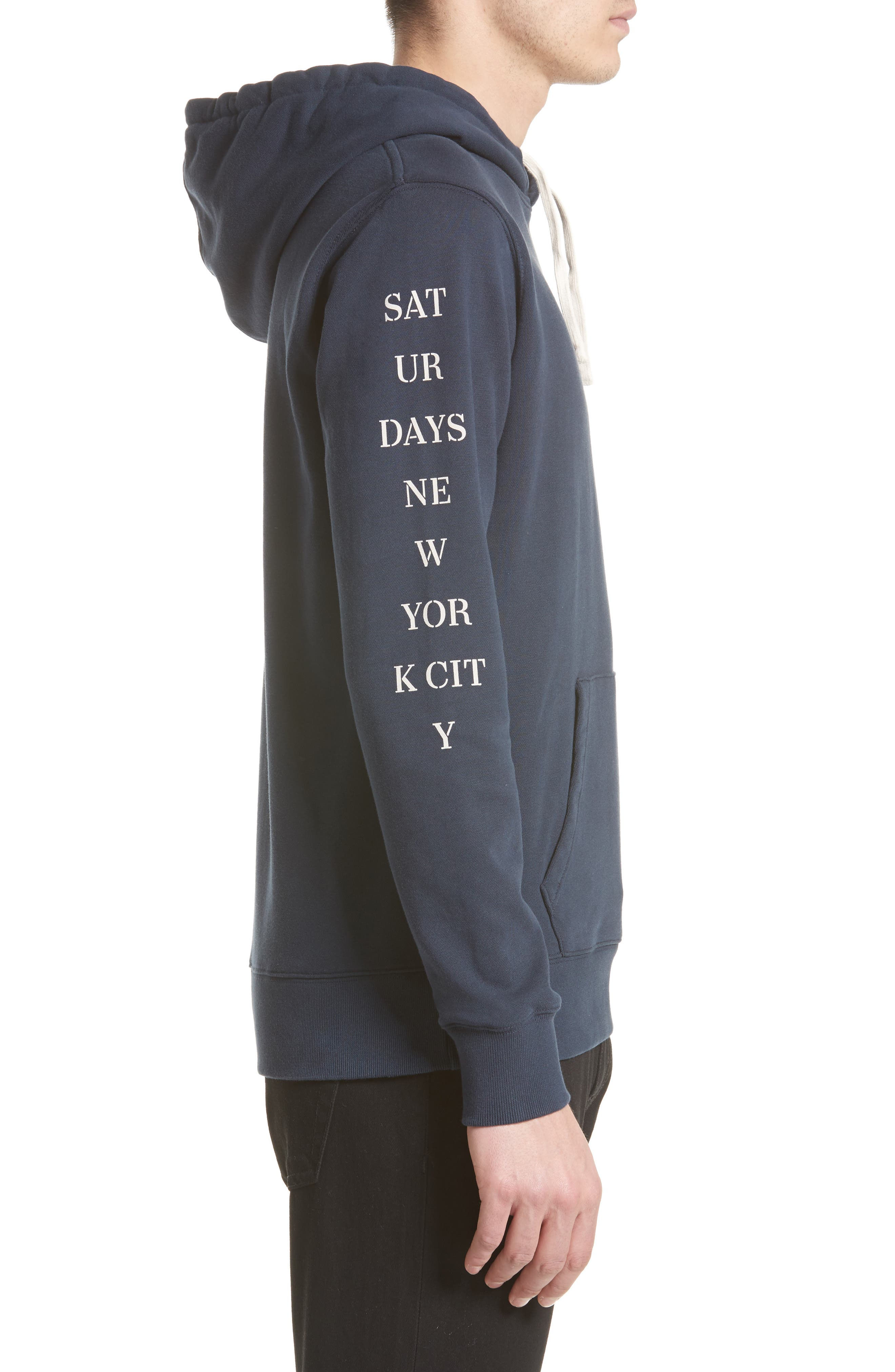 Ditch Sleeve Logo Hoodie,                             Alternate thumbnail 4, color,                             Midnight