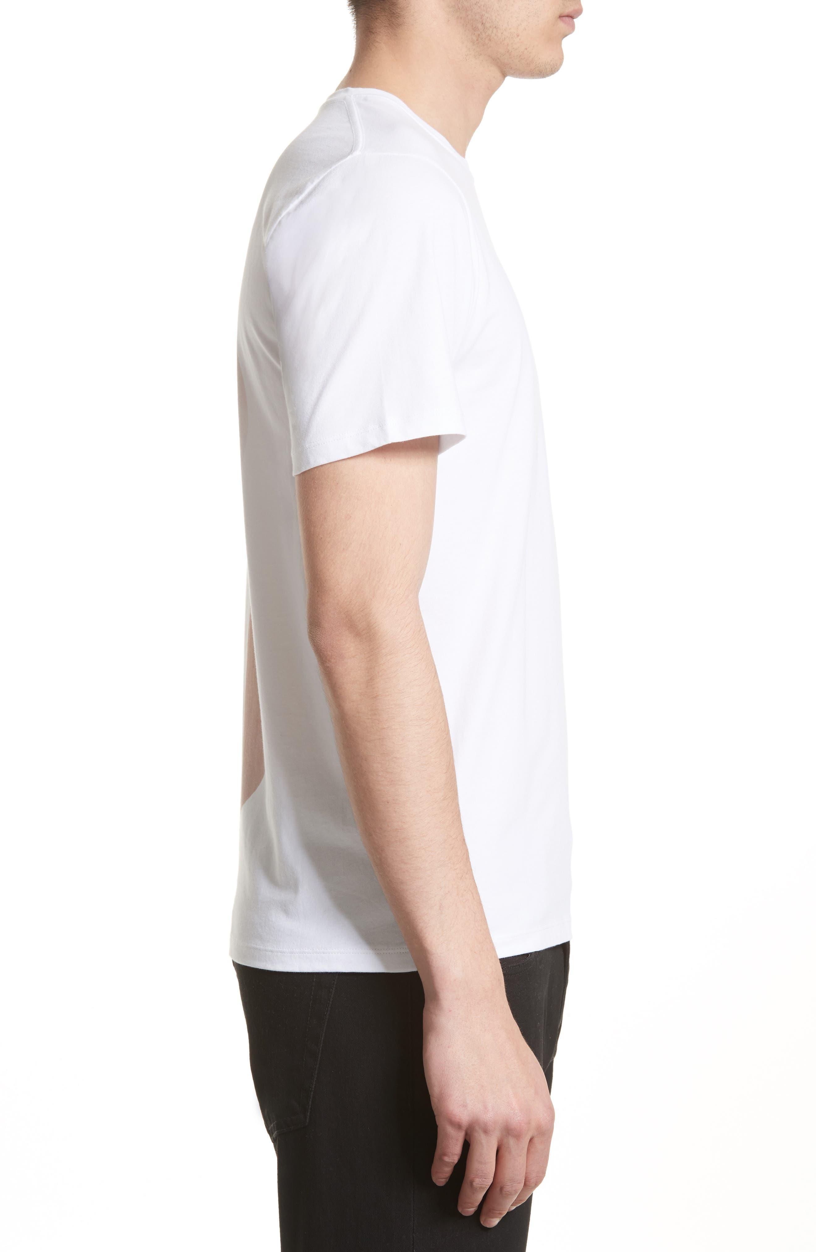 Gradient Graphic T-Shirt,                             Alternate thumbnail 3, color,                             White