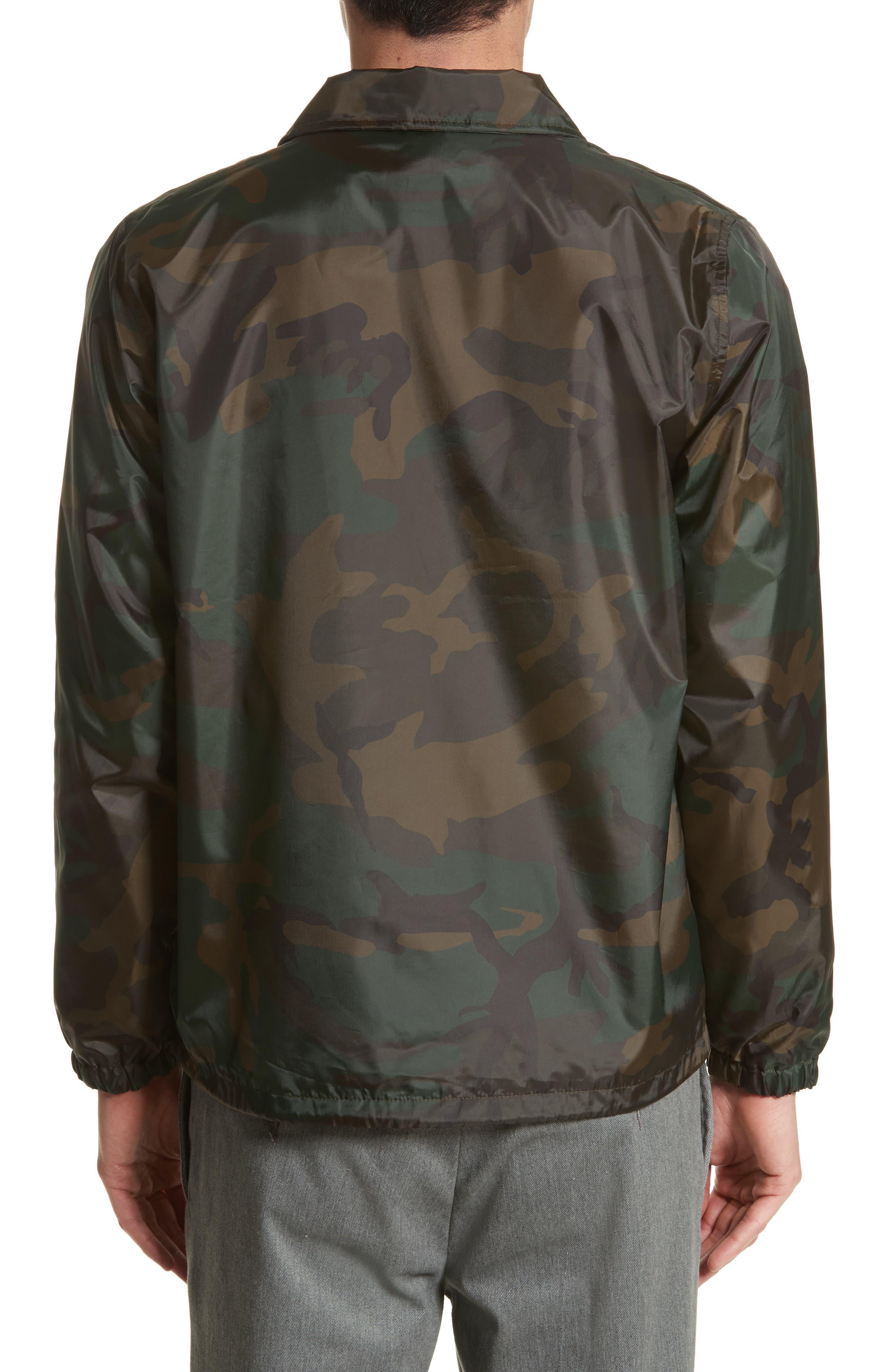 Camo Print Coach Jacket,                             Alternate thumbnail 2, color,                             Camo Combat Green/White