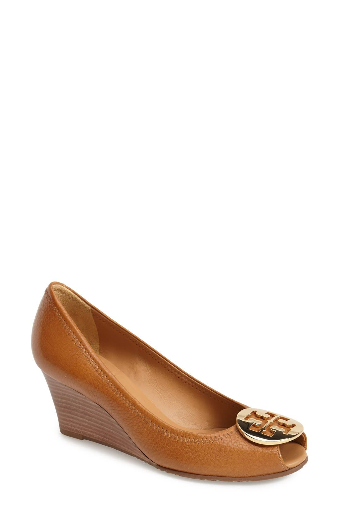 Main Image - Tory Burch 'Sally 2' Peep Toe Wedge Pump (Women)