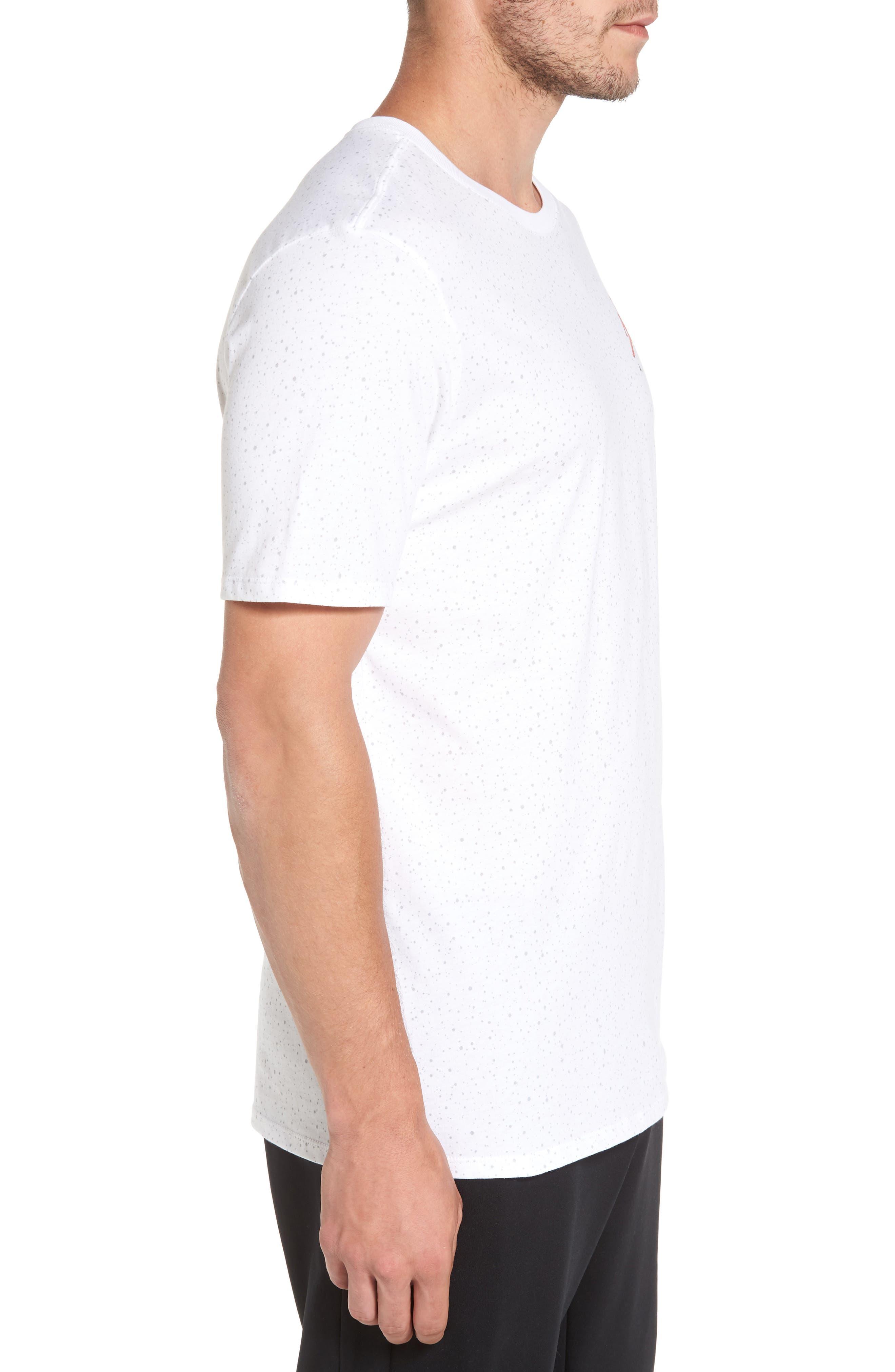 Sportswear Speckle T-Shirt,                             Alternate thumbnail 3, color,                             White/ University Red