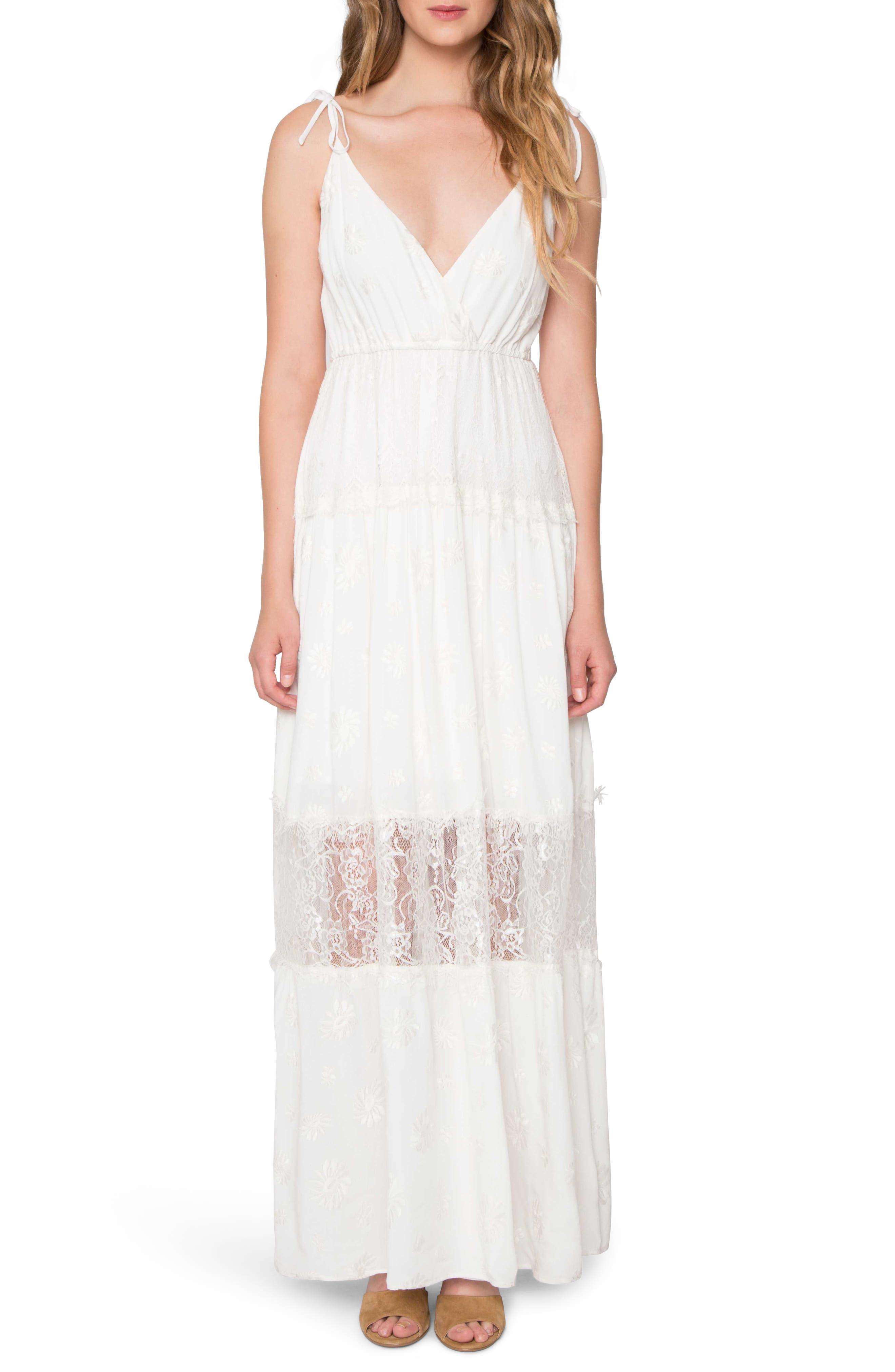 Lace Maxi Dress,                         Main,                         color, Ivory