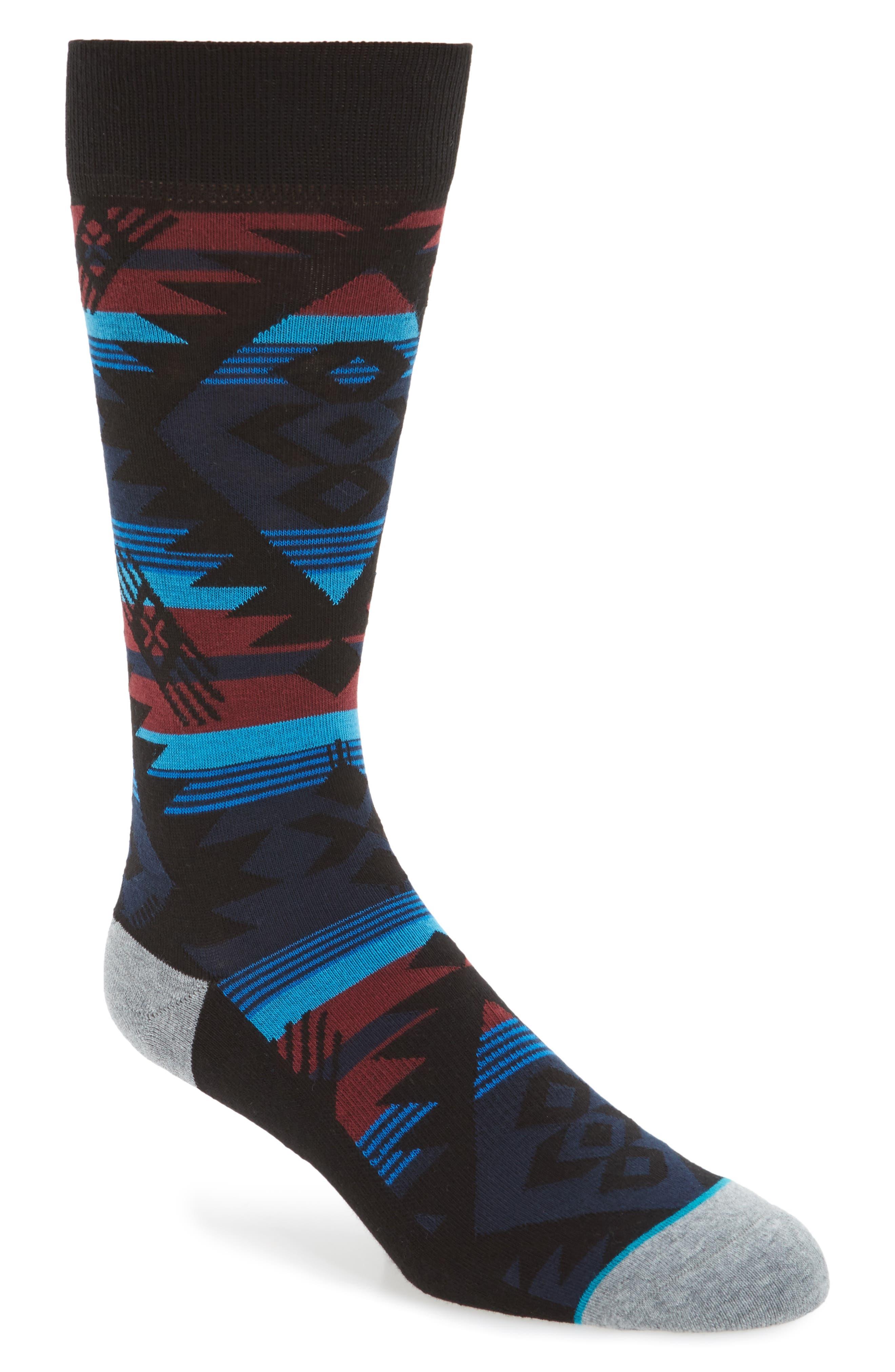 Geometric Socks,                         Main,                         color, Grey
