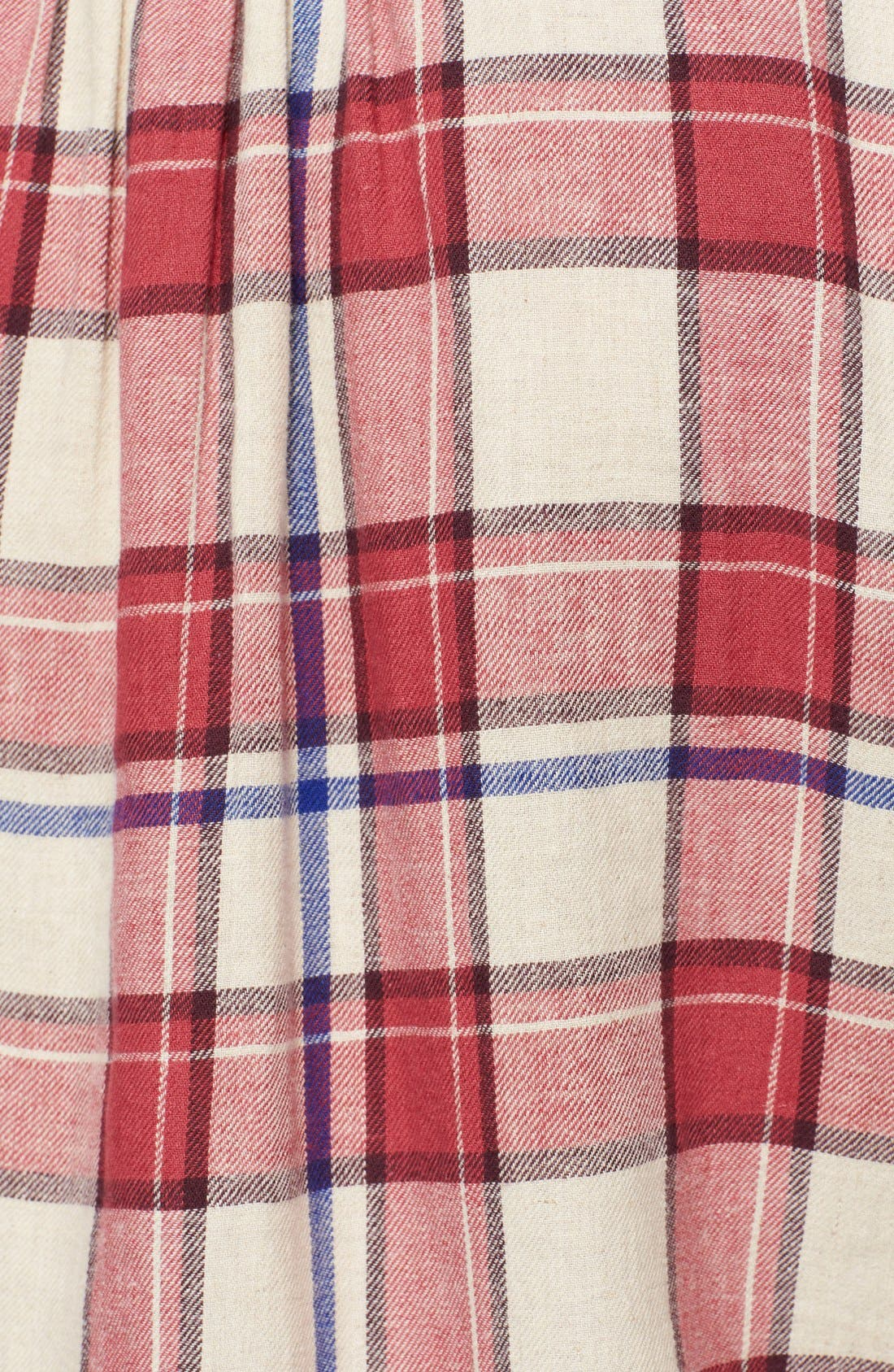 Alternate Image 3  - Burberry Brit Bib Front Flannel Shirt