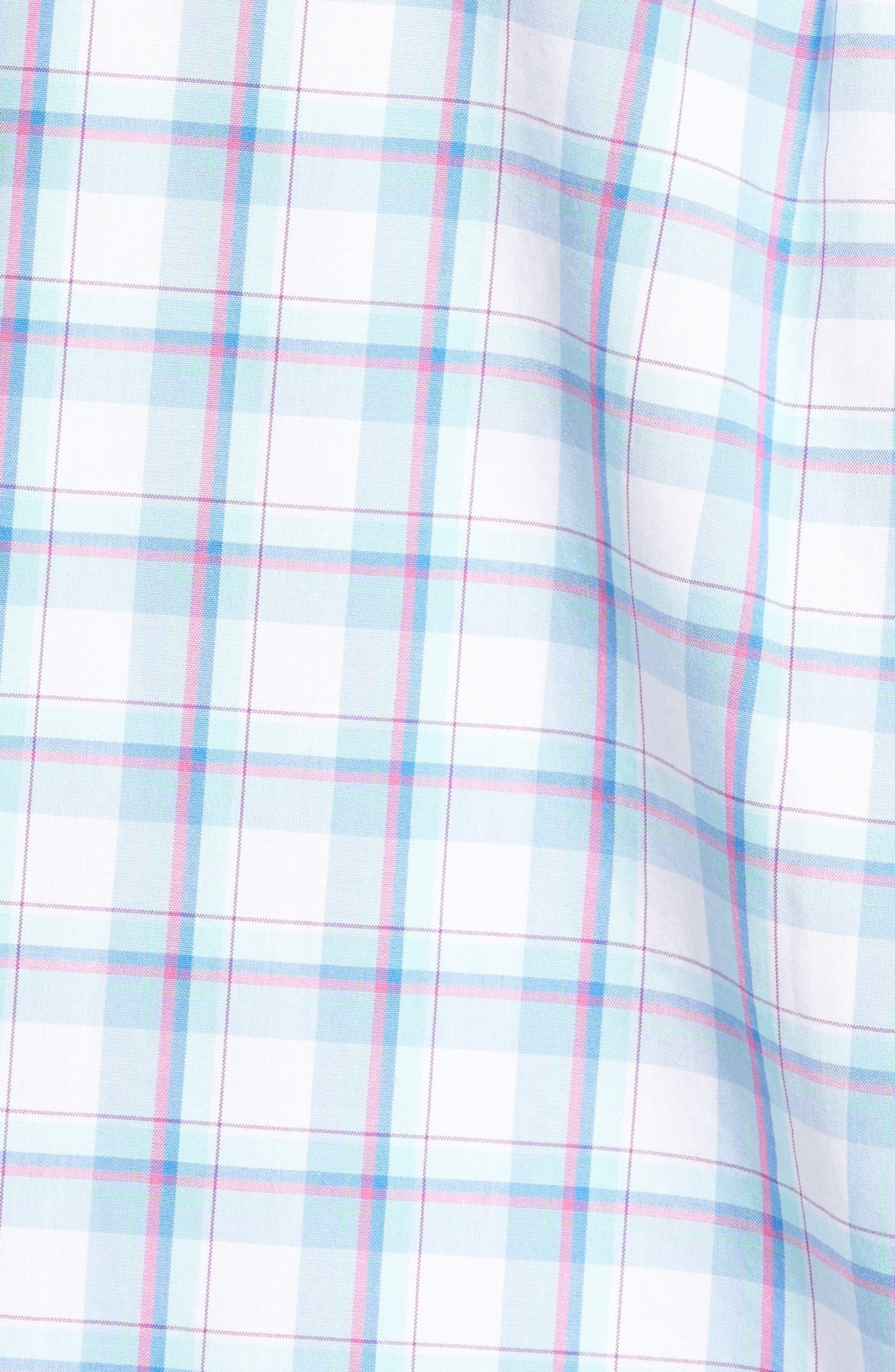 Plaid Classic Fit Sport Shirt,                             Alternate thumbnail 5, color,                             Jake Blue