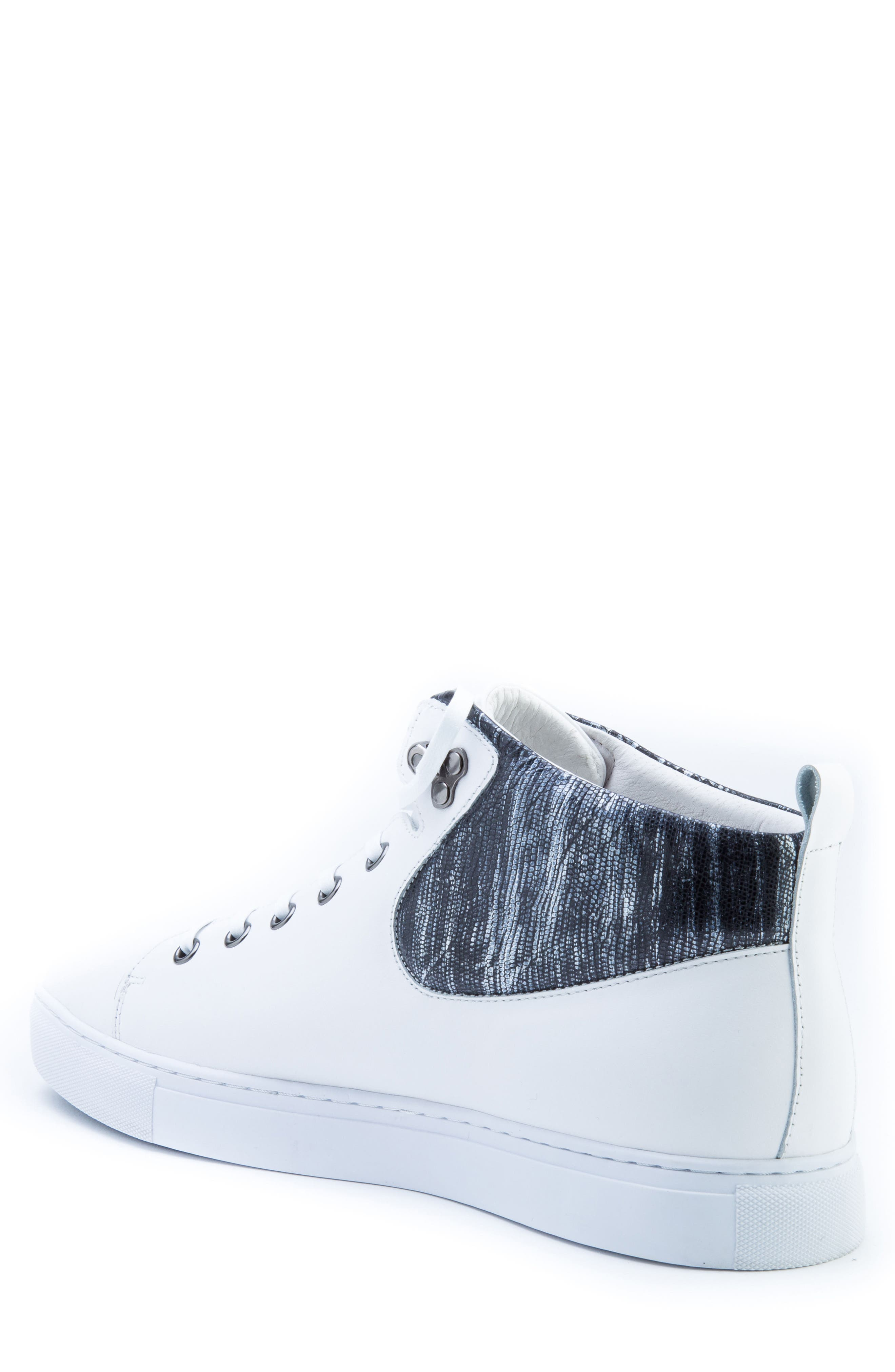 Carroll Sneaker,                             Alternate thumbnail 2, color,                             White Leather