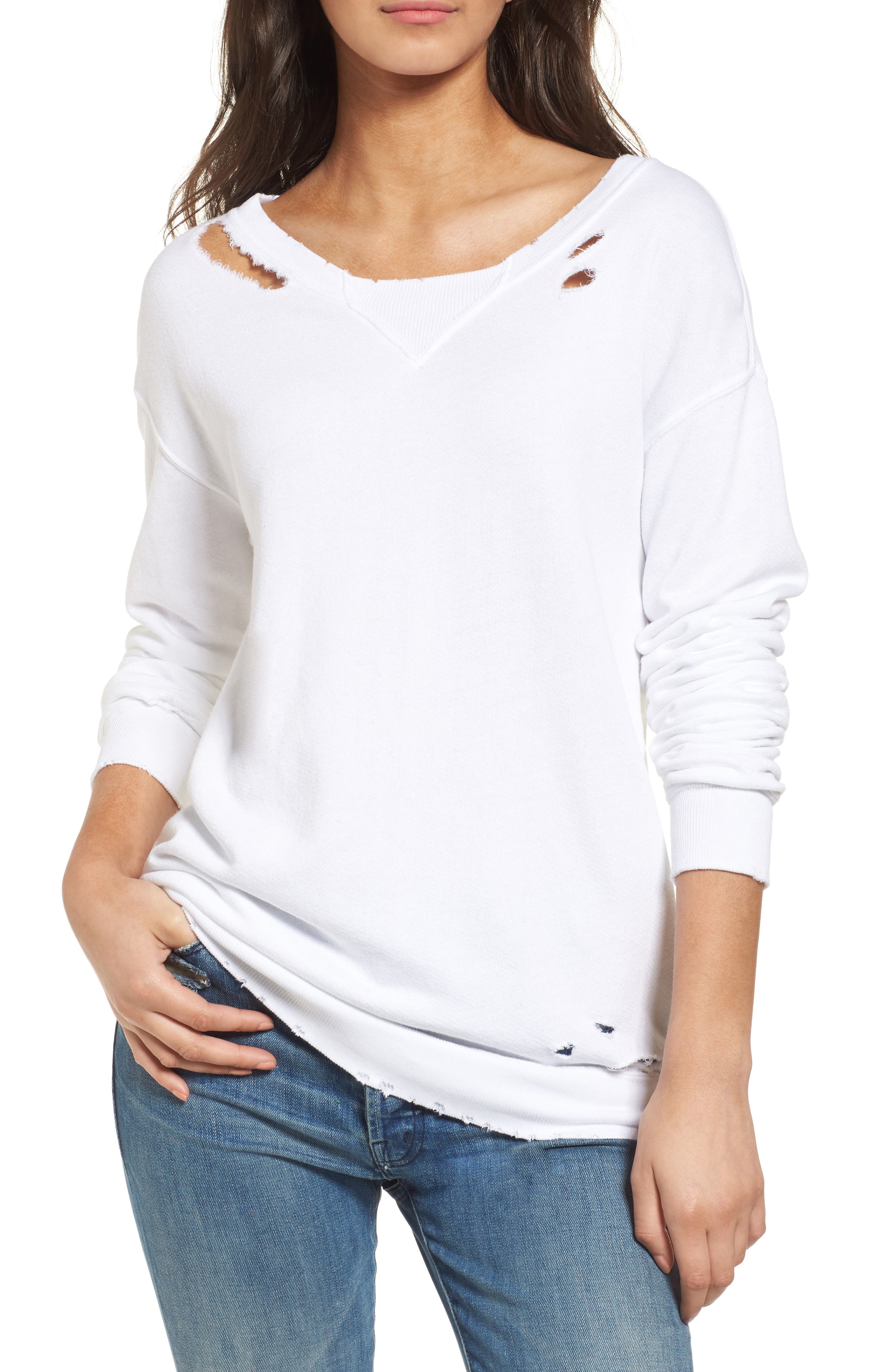 n:PHILANTHROPY Joni Distressed Sweatshirt