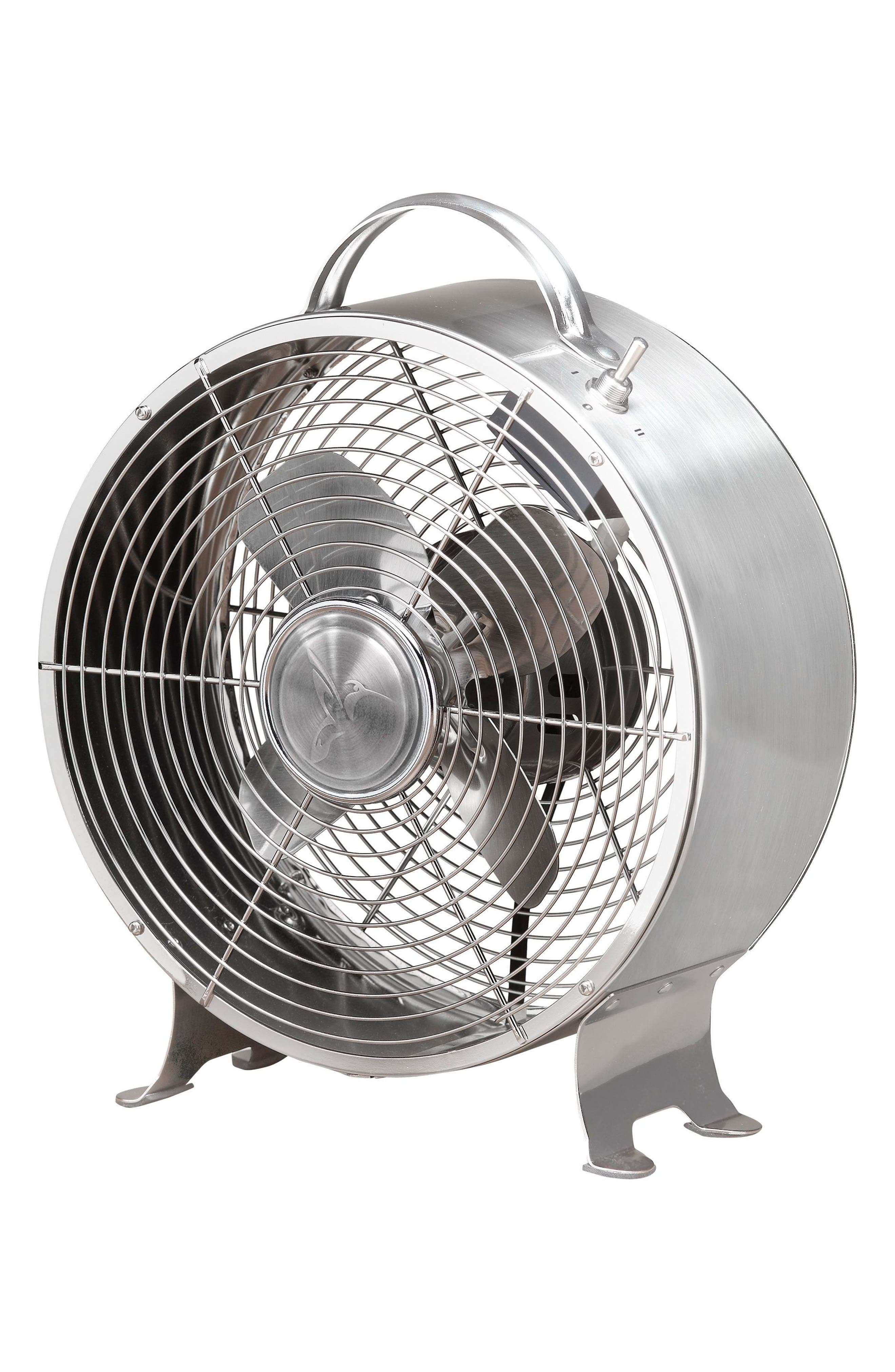 Retro Metal Fan,                         Main,                         color, Stainless
