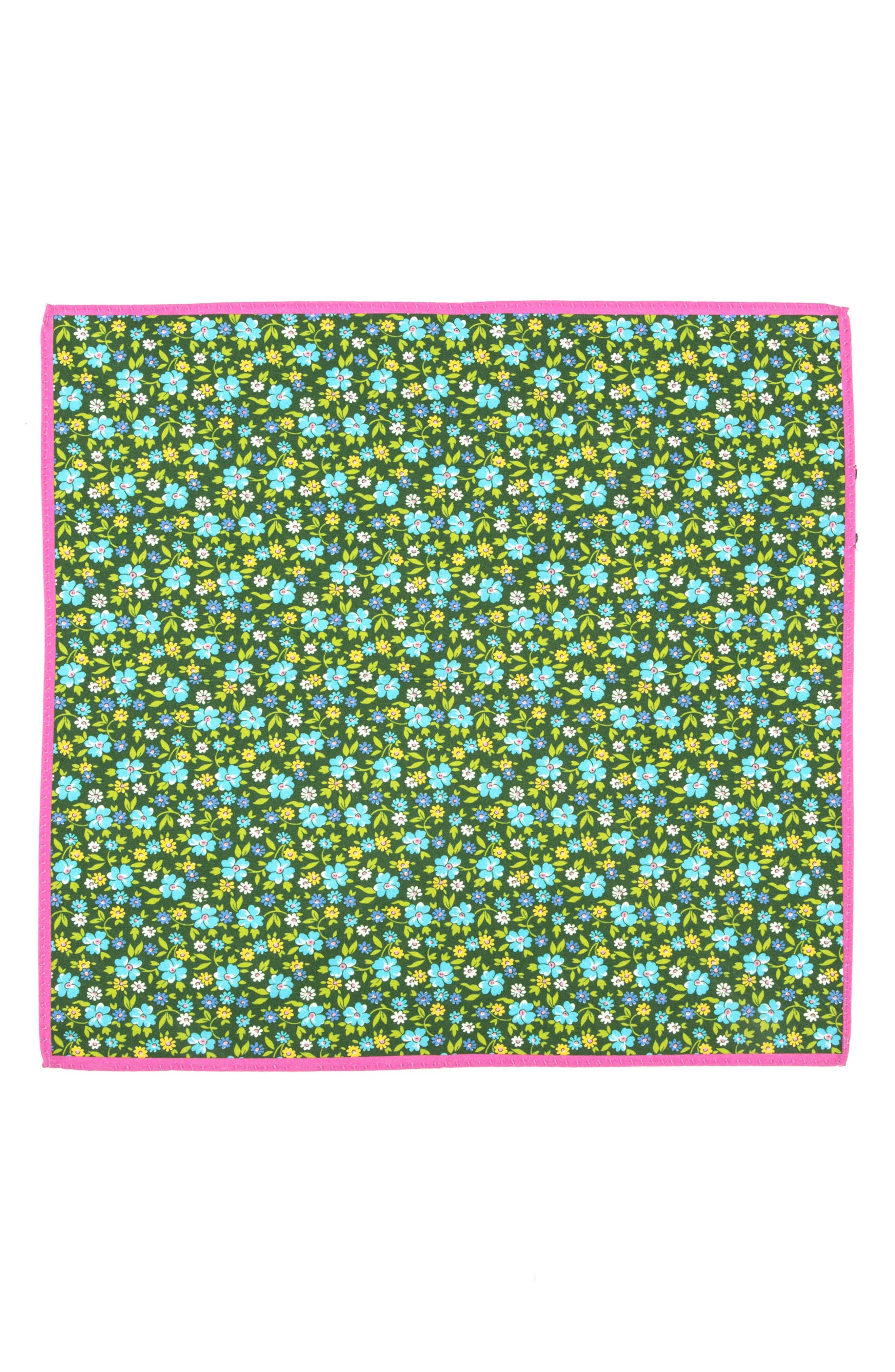 Alternate Image 2  - Ted Baker London Floral Cotton & Silk Pocket Square