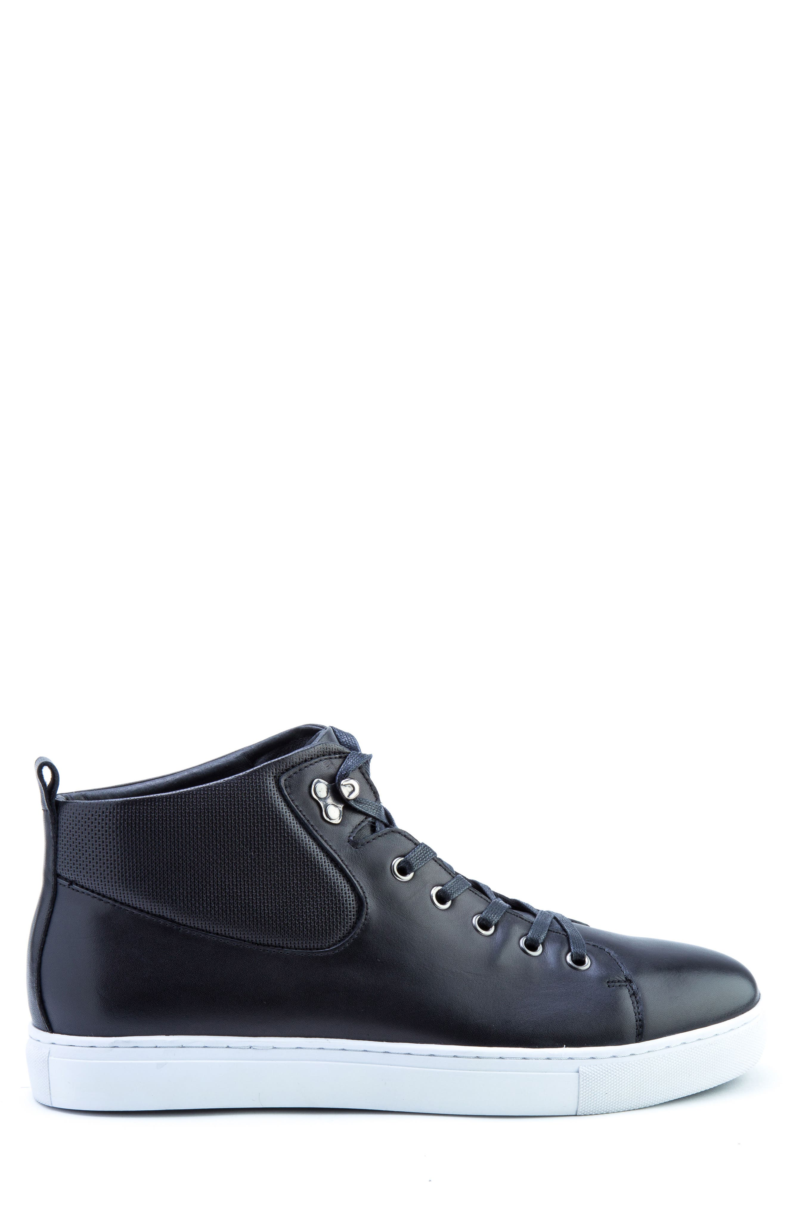 Sanders Sneaker,                             Alternate thumbnail 3, color,                             Black Leather