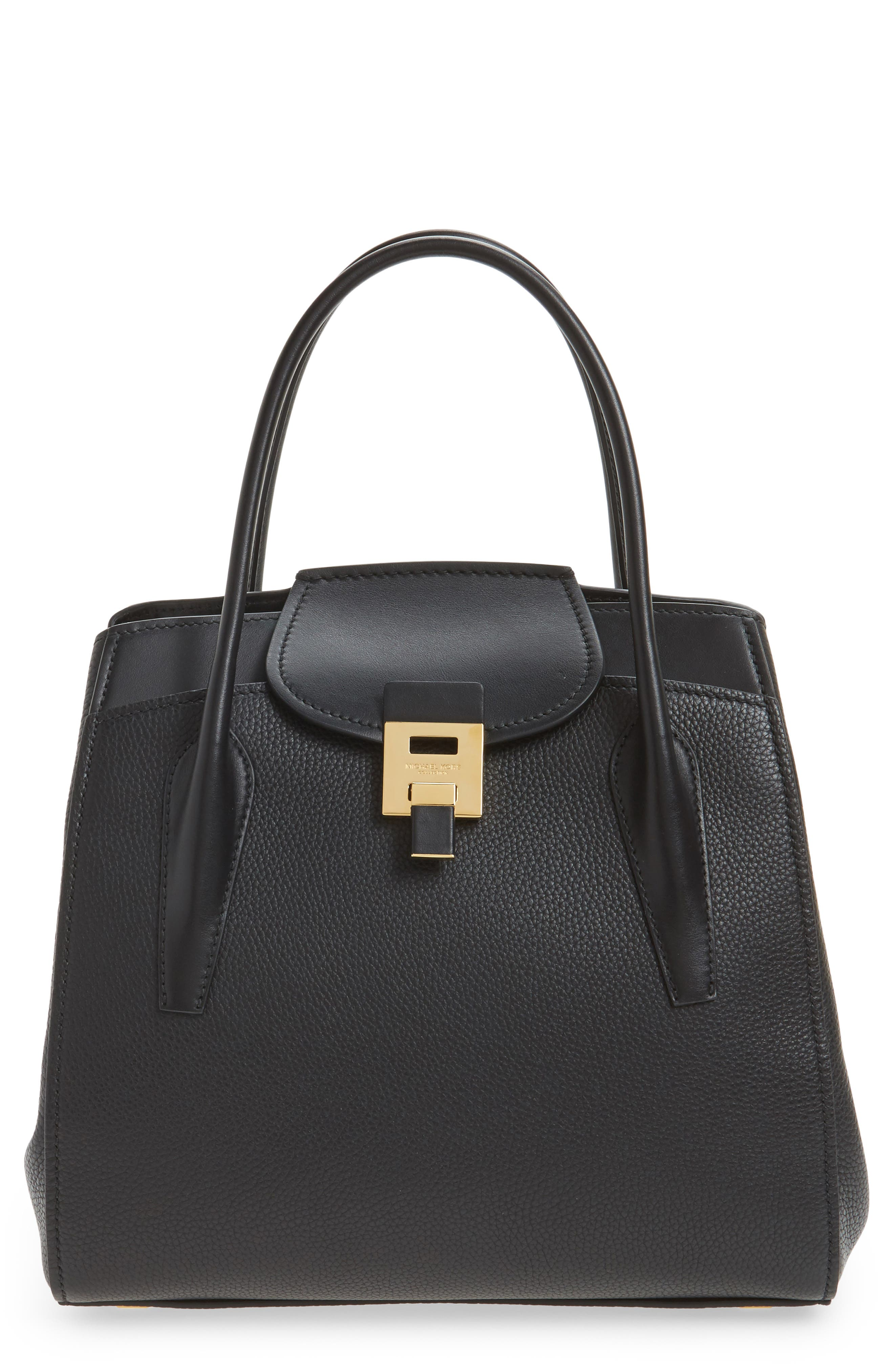 Main Image - Michael Kors Large Bancroft Leather Top Handle Satchel