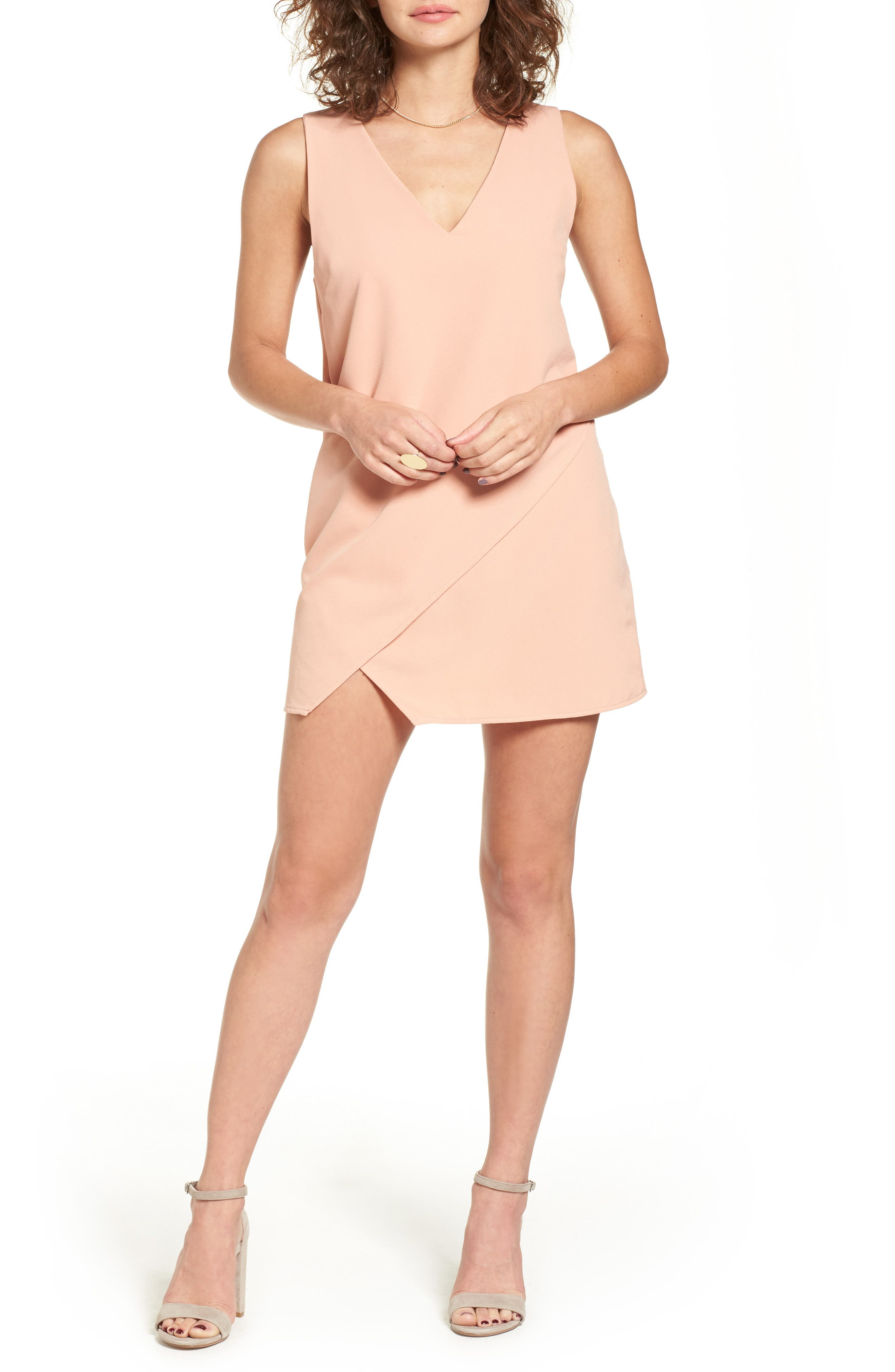 Dee Elly Surplice Hem Dress