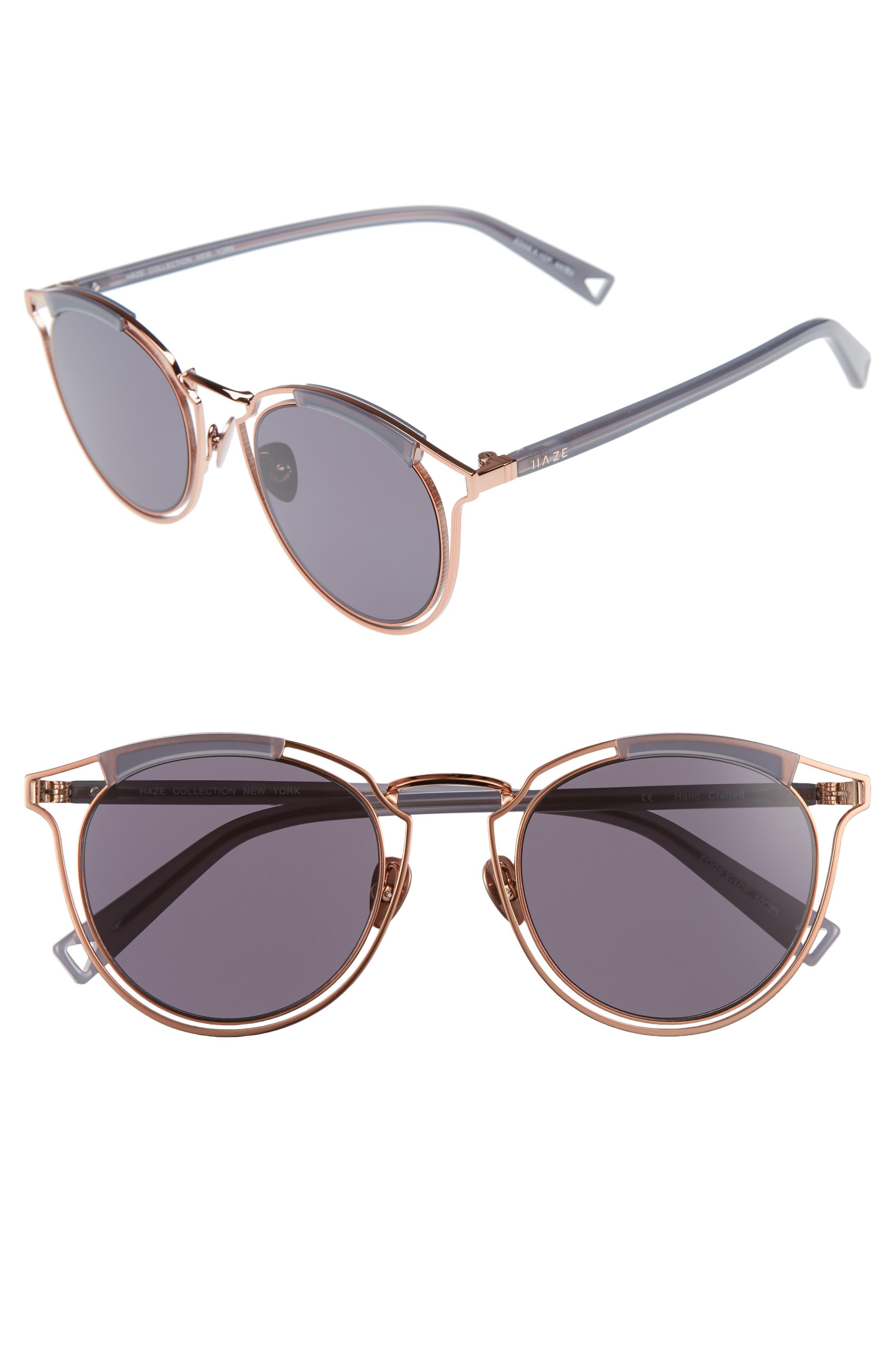 Main Image - HAZE Edge X 50mm Modified Round Sunglasses