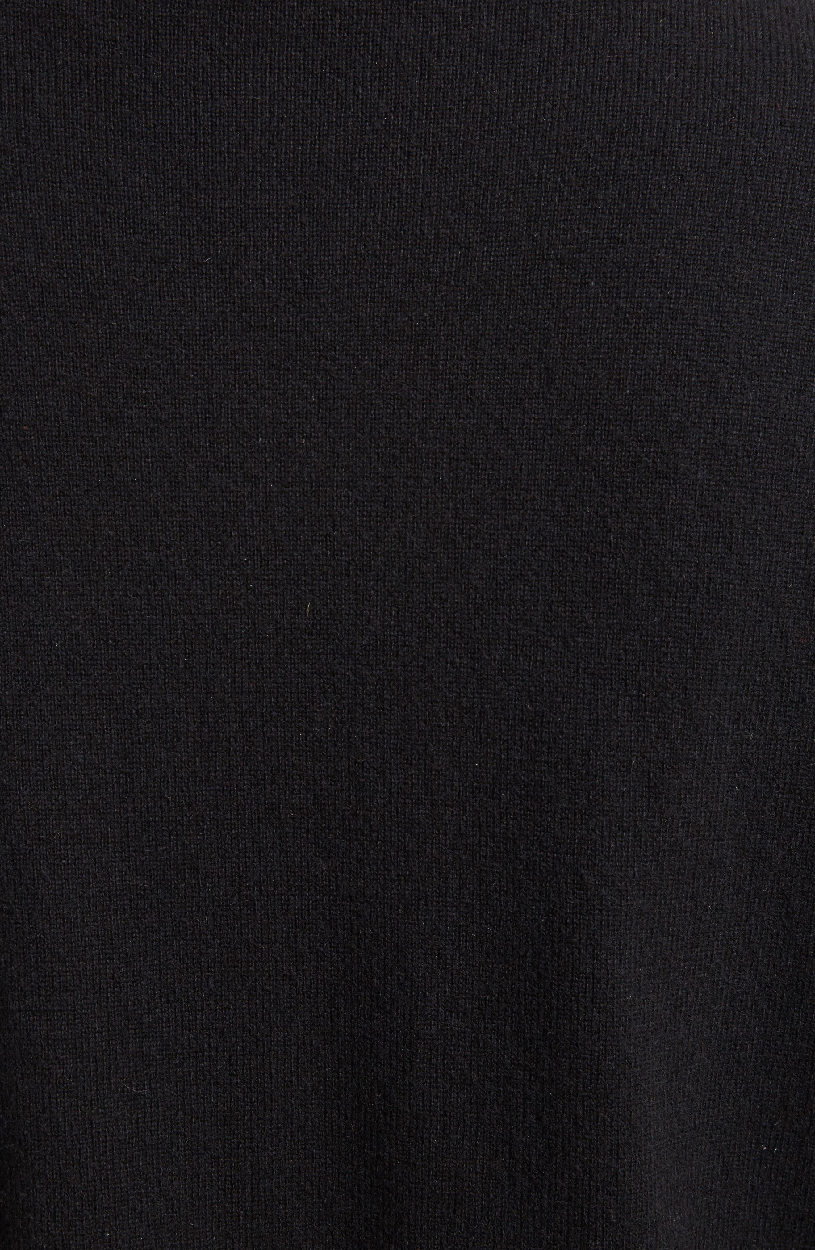 Alternate Image 3  - Dries Van Noten Silk Hem Cashmere Turtleneck Sweater